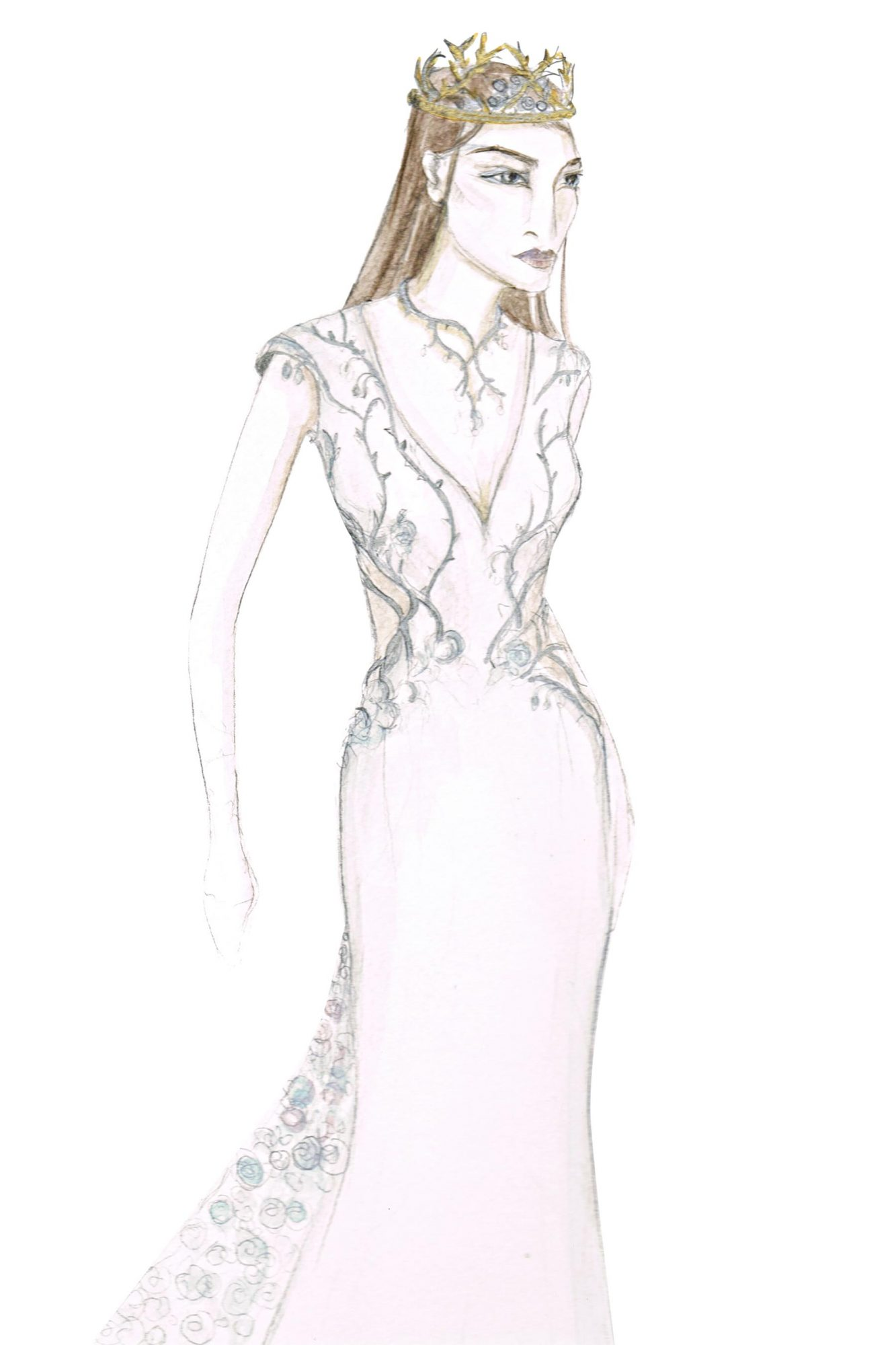 Game of ThronesMargaery TyrellWedding Costume Sketch