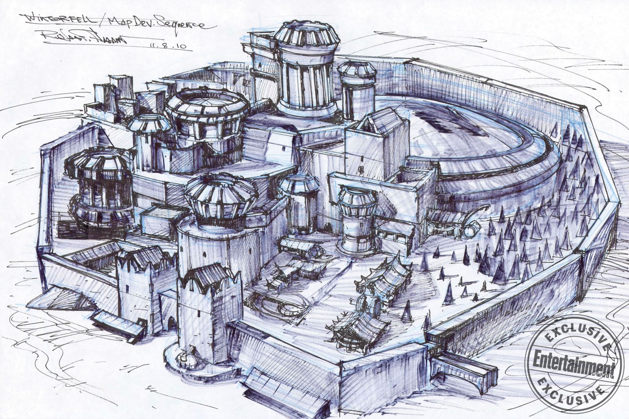Game of ThronesTitle SequenceWinterfell Concept Art