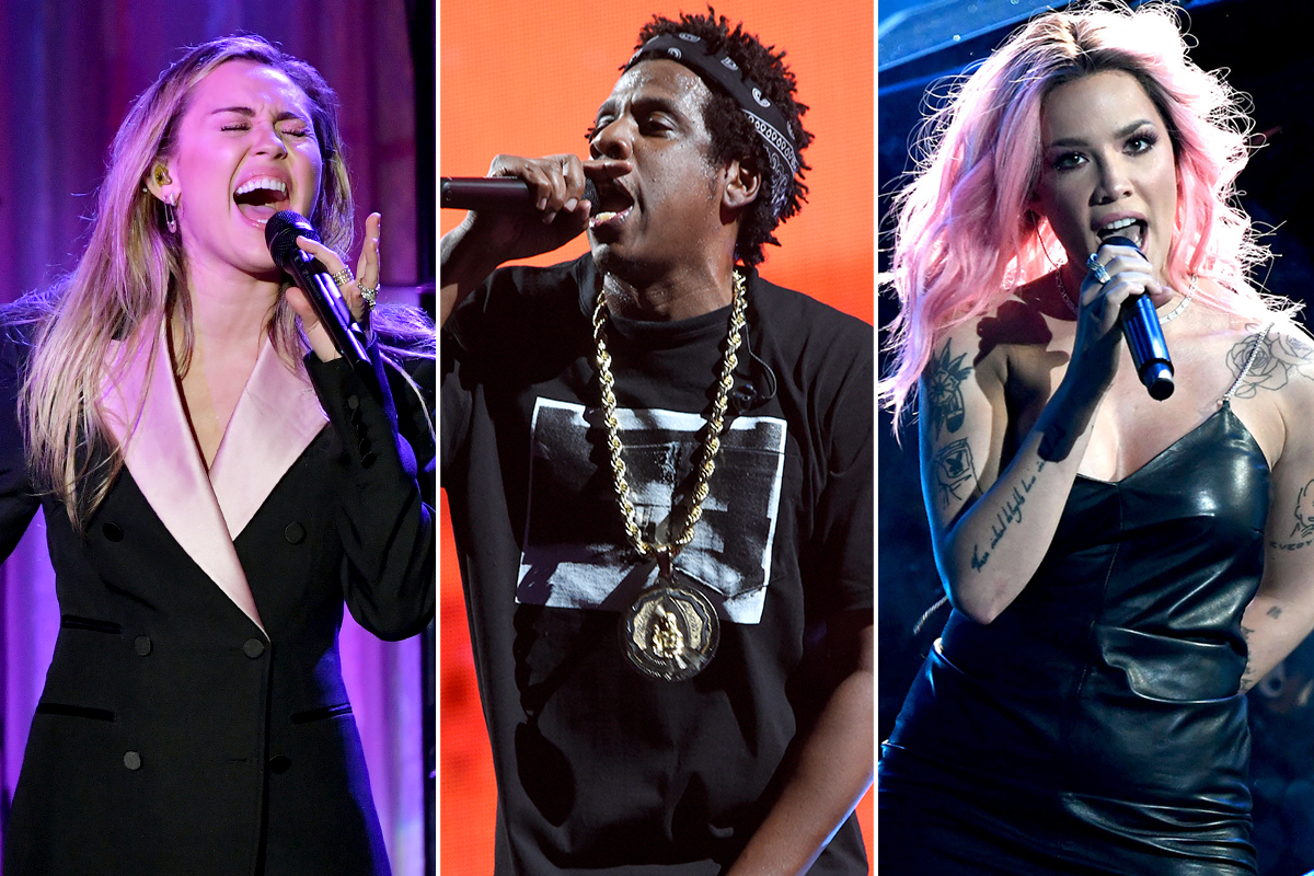 Miley Cyrus, Jay-Z, and Halsey