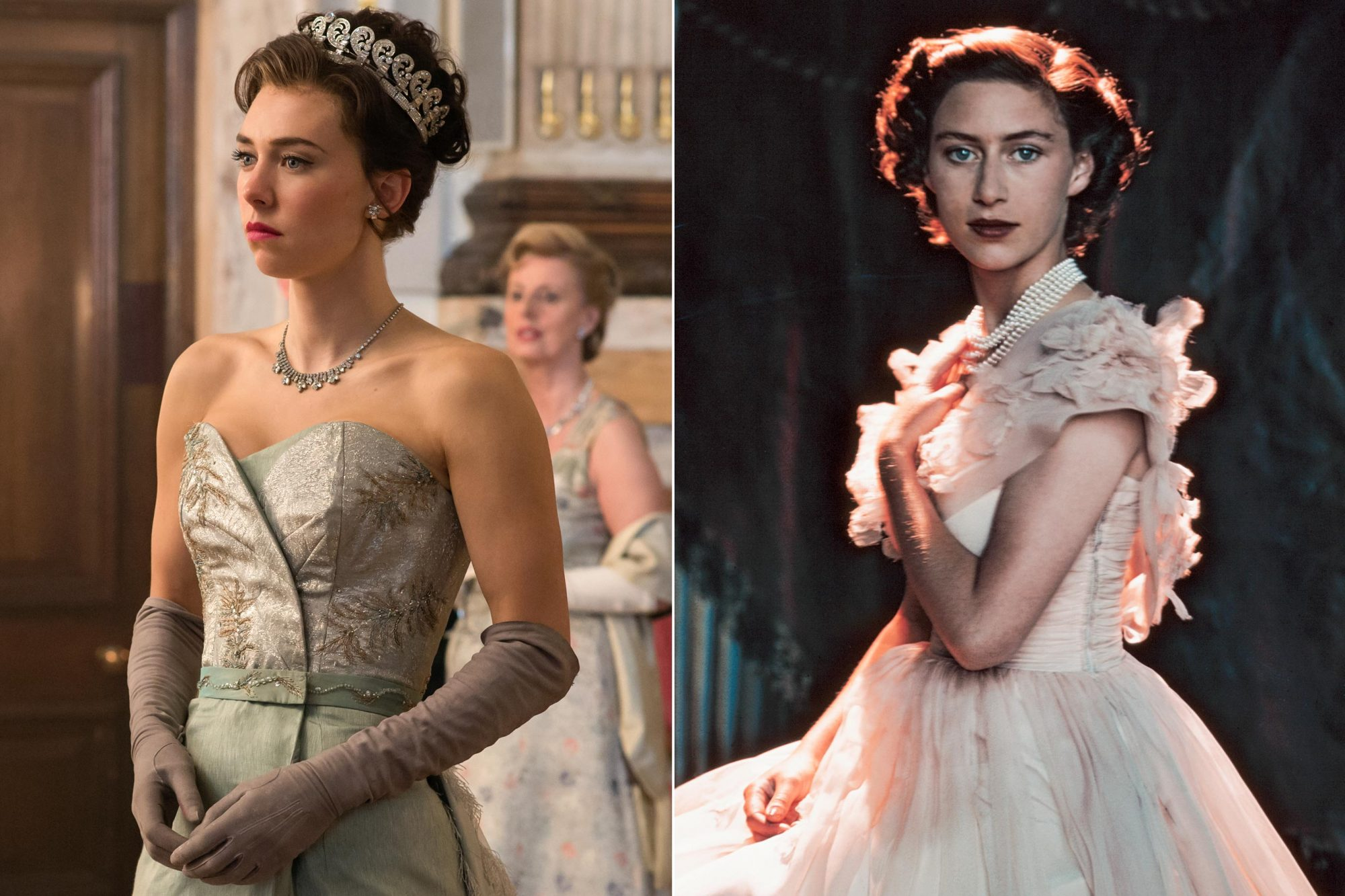 Vanessa-Kirby-and-young-Princess-Margaret