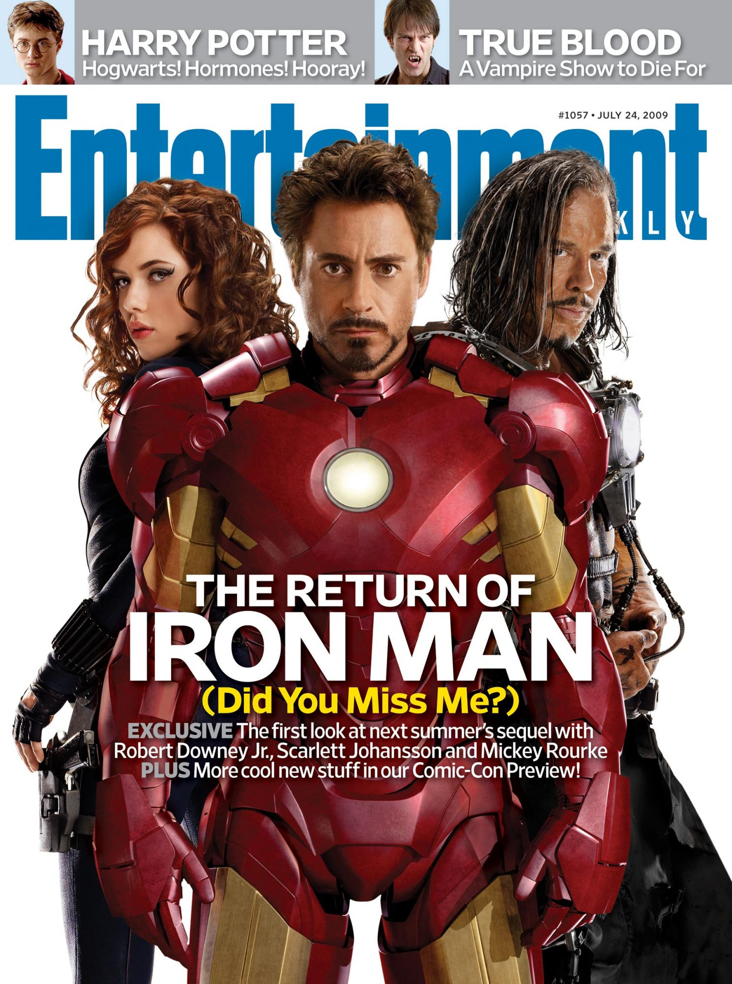 EW CoverIssue 1057July 24, 2009Iron Man cover