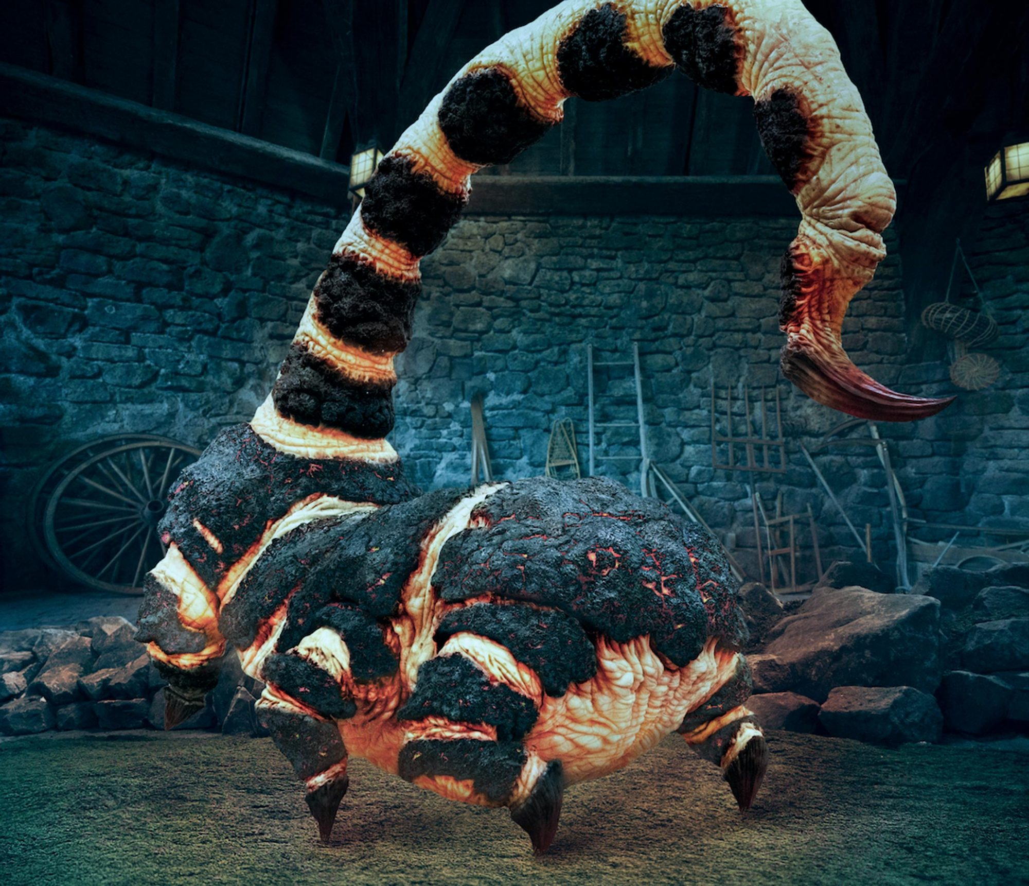 Blast-Ended Skrewt at Hagrid's Magical Creatures Motorbike Adventure CR: Universal Orlando