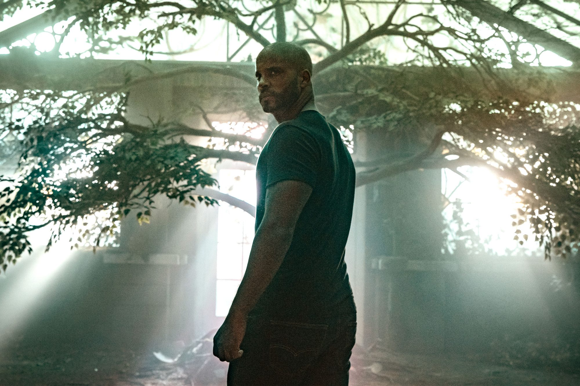 American Gods Season 2 Episode 8 Conservatory Shadow Moon (Ricky Whittle) CR: Ian Watson/Starz