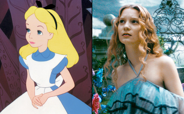 Alice in Wonderland (2010) and Alice Through the Looking Glass (2016)