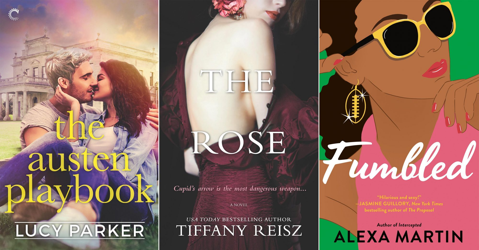 April Romance The Austen Playbook by Lucy Parker CR: Carina Press The Rose by Tiffany Reisz CR: MIRA Fumbled by Alexa Martin CR: Penguin