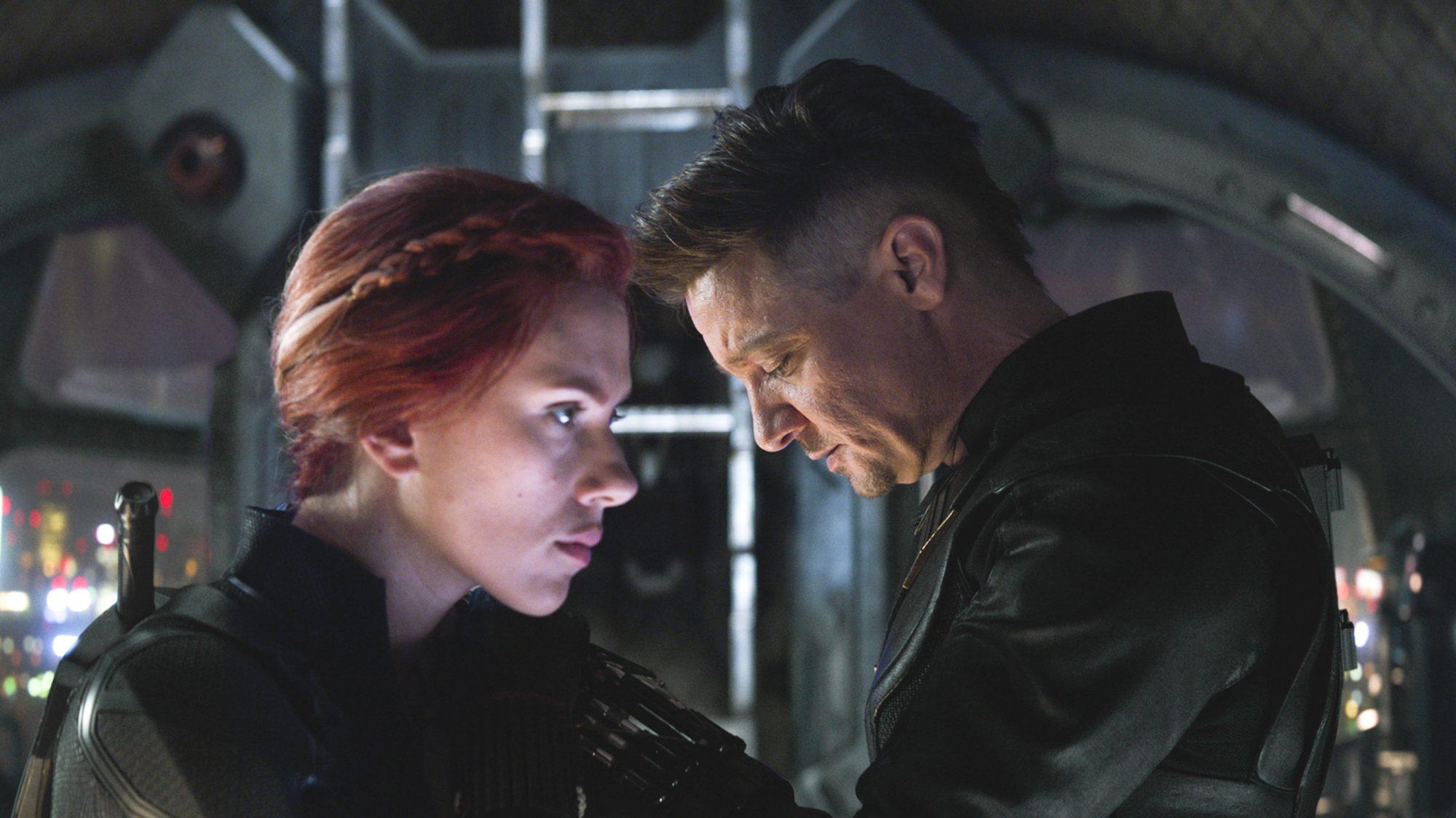 Marvel Studios' AVENGERS: ENDGAME Black Widow/Natasha Romanoff (Scarlett Johansson), Hawkeye/Clint Barton (Jeremy Renner)..Photo: Film Frame..©Marvel Studios 2019