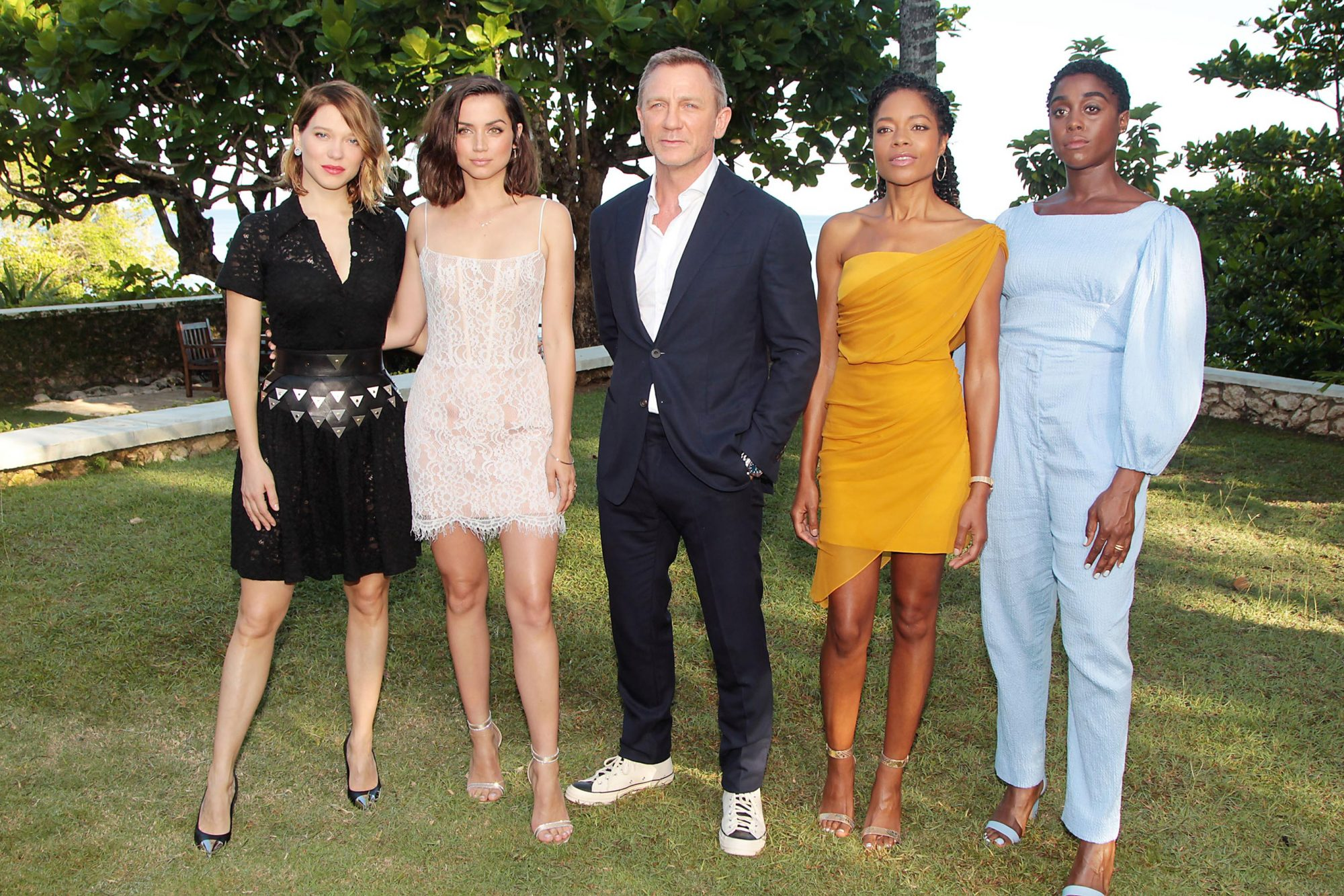 Photocall annoucncing BOND 25 At Goldeneye, Jamaica. Once the home of Ian Fleming where he created the James Bond character in 1952.