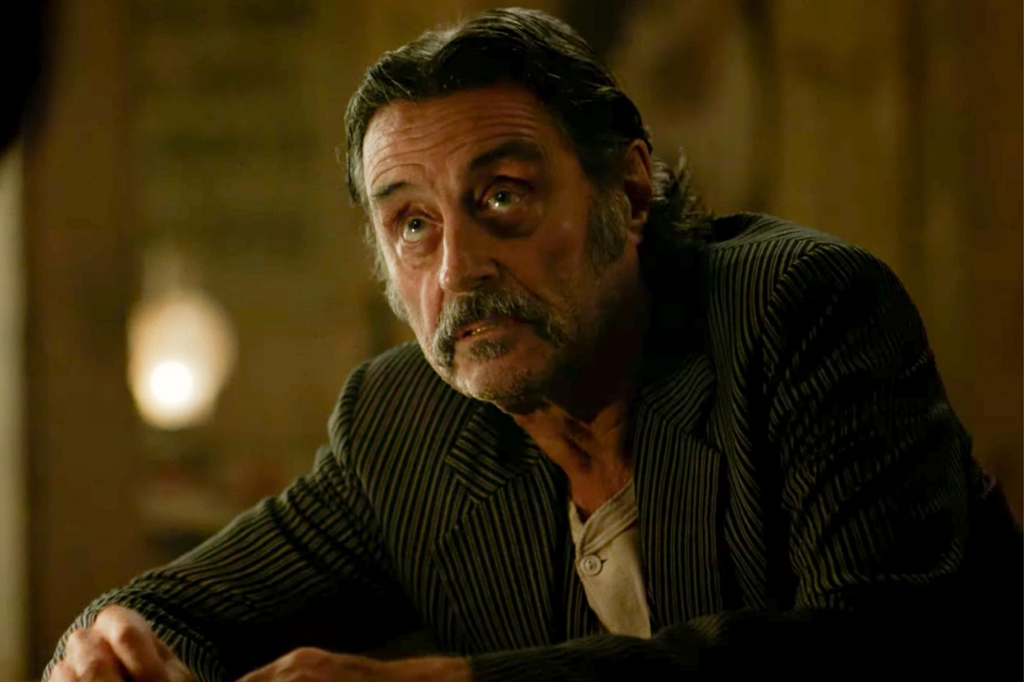 Deadwood: The Movie (2019) | Official Trailer | HBO (screen grab) Ian McShane https://www.youtube.com/watch?v=s0WrXmhvXTA CR: HBO