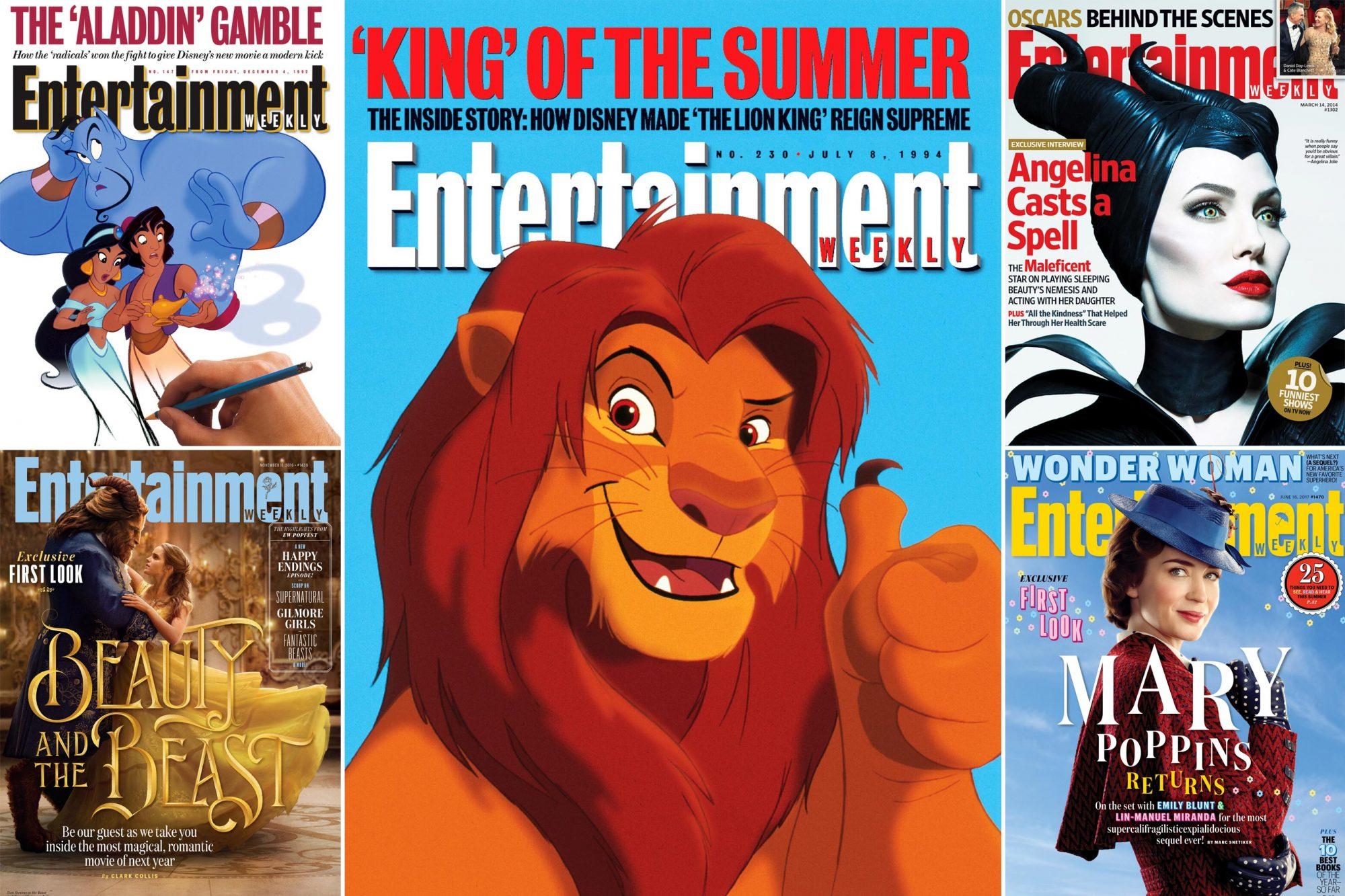 Every Disney EW Cover