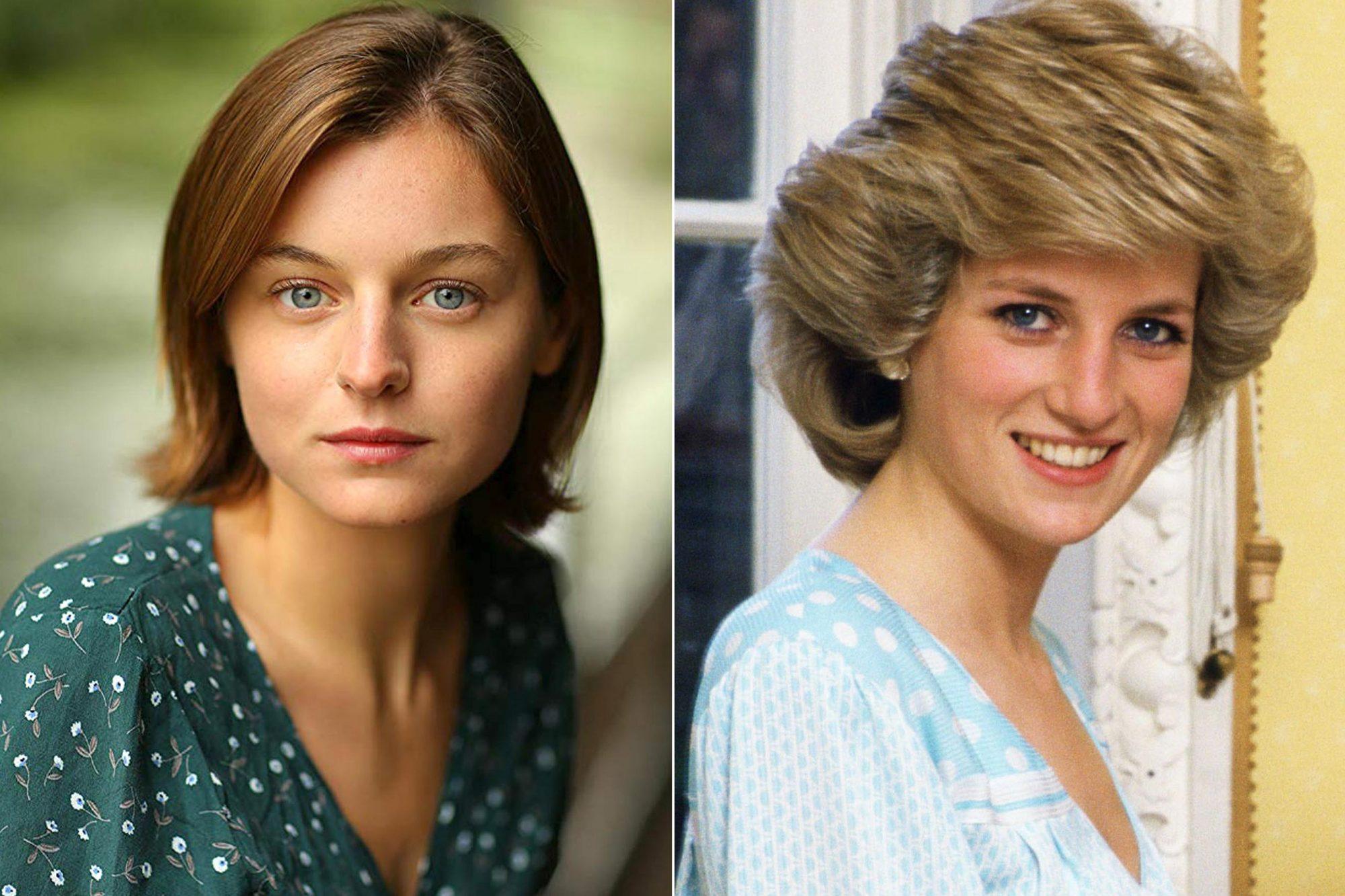 The Crown Emma-Corrin-and-Princess-Diana