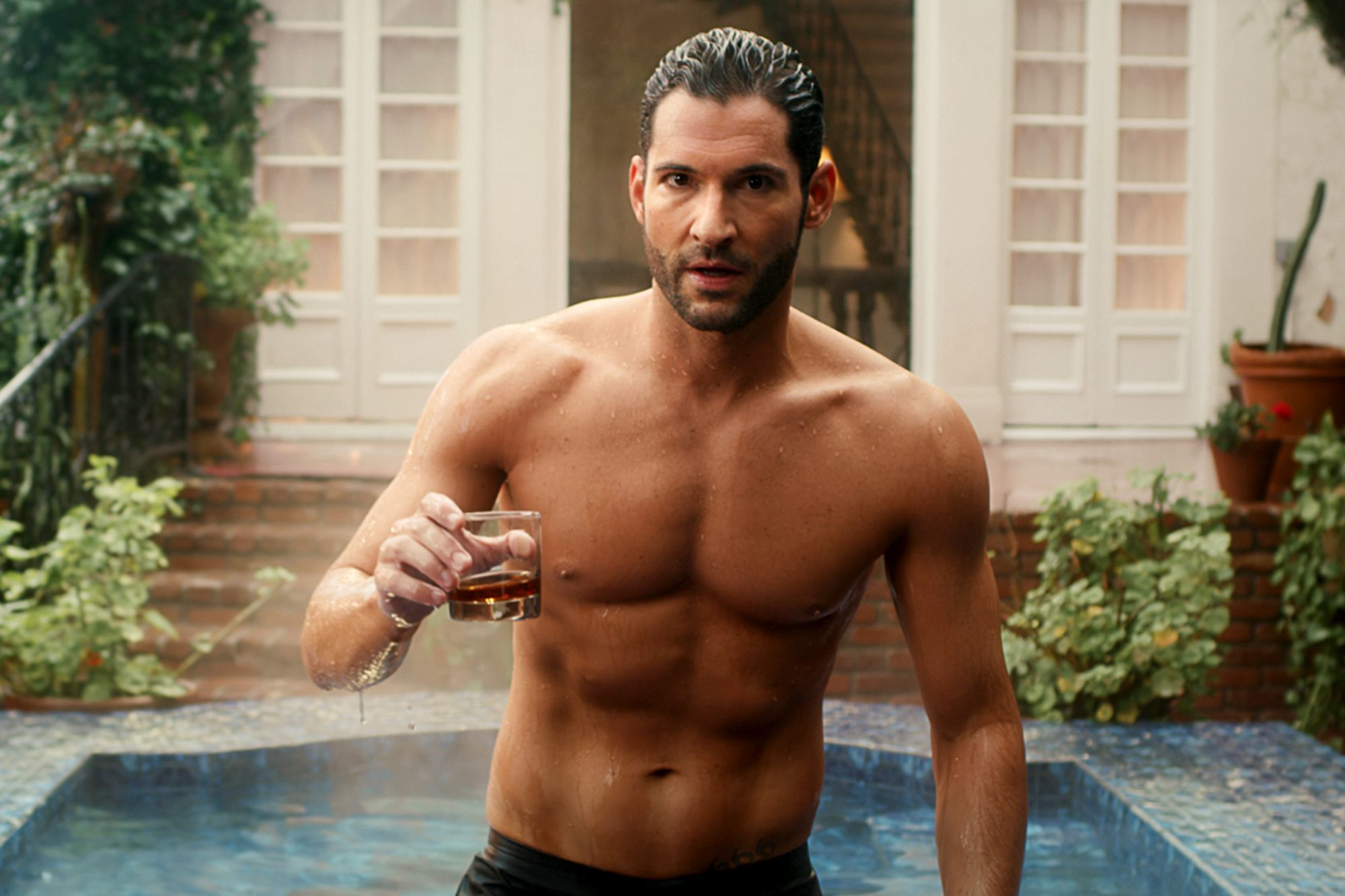 Tom Ellis from the Lucifer