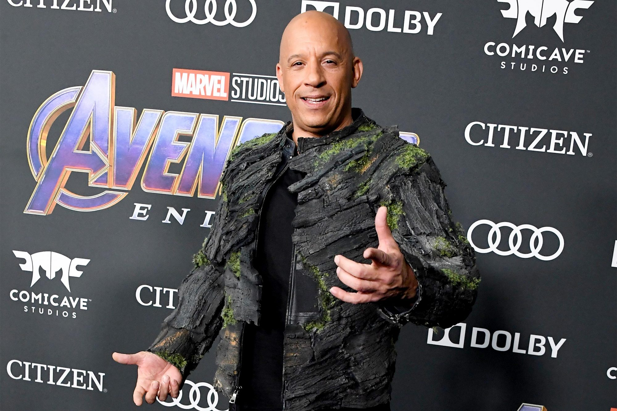 """LOS ANGELES, CA - APRIL 22: Vin Diesel attends the world premiere of Walt Disney Studios Motion Pictures """"Avengers: Endgame"""" at the Los Angeles Convention Center on April 22, 2019 in Los Angeles, California. (Photo by Steve Granitz/WireImage)"""