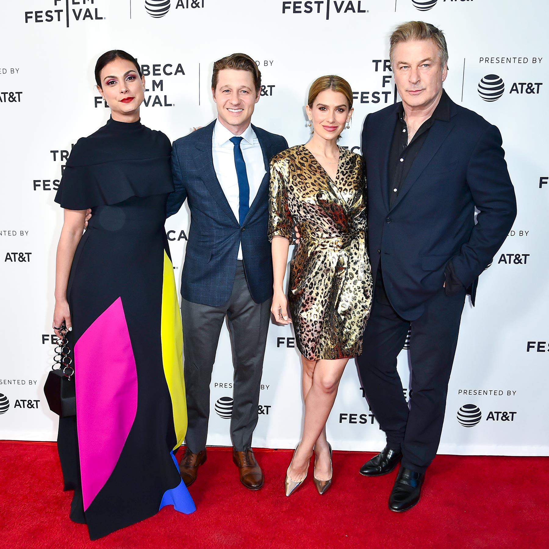 NEW YORK, NY - APRIL 30: Morena Baccarin, Ben Mckenzie, Hilaria Baldwin, and Alec Baldwin attend a screening of Framing John DeLorean during the 2019 Tribeca Film Festival at SVA Theater on April 30, 2019 in New York City. (Photo by Steven Ferdman/Getty Images for Tribeca Film Festival)