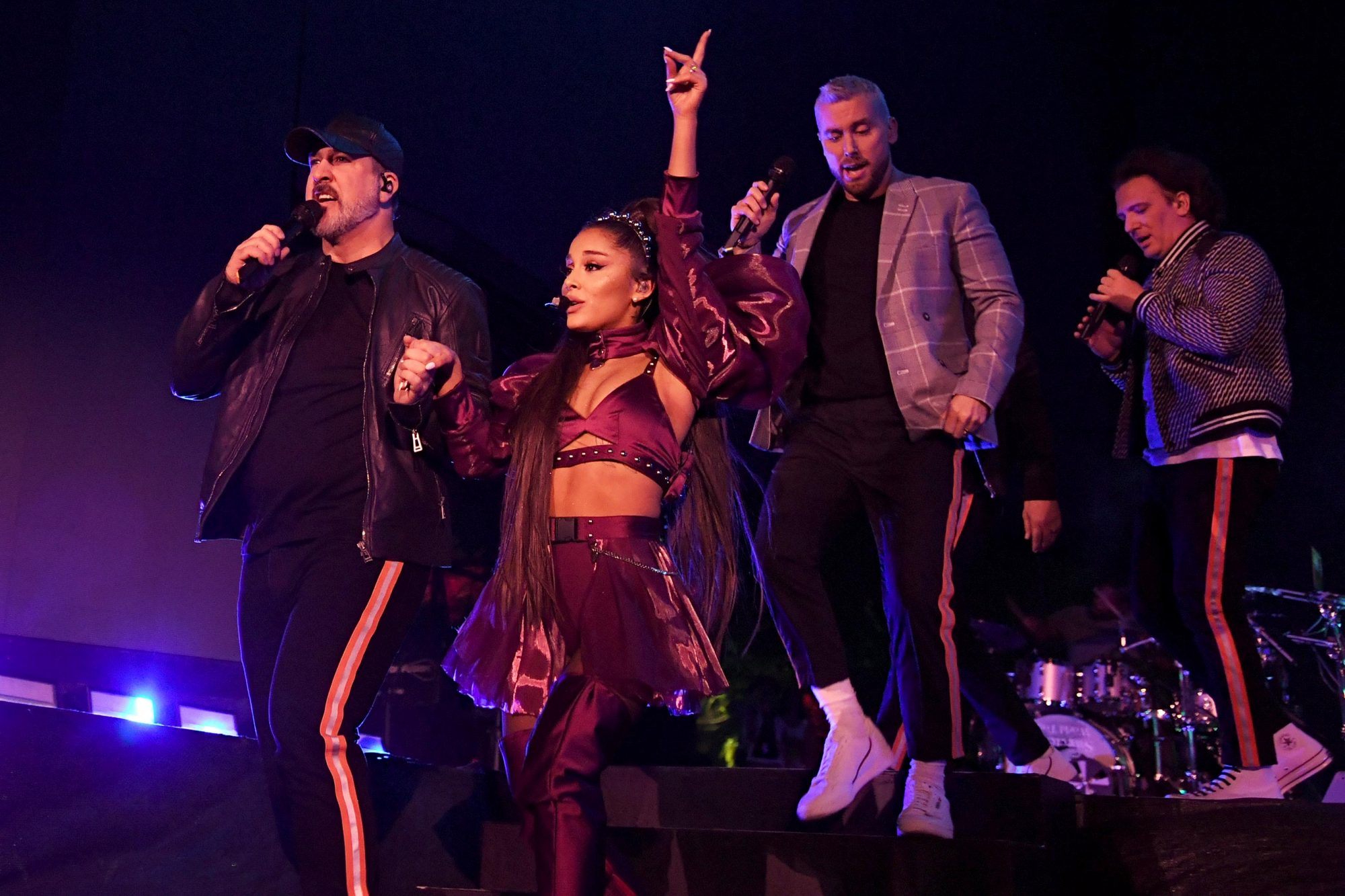 Joey Fatone, Ariana Grande, Lance Bass, and JC Chasez