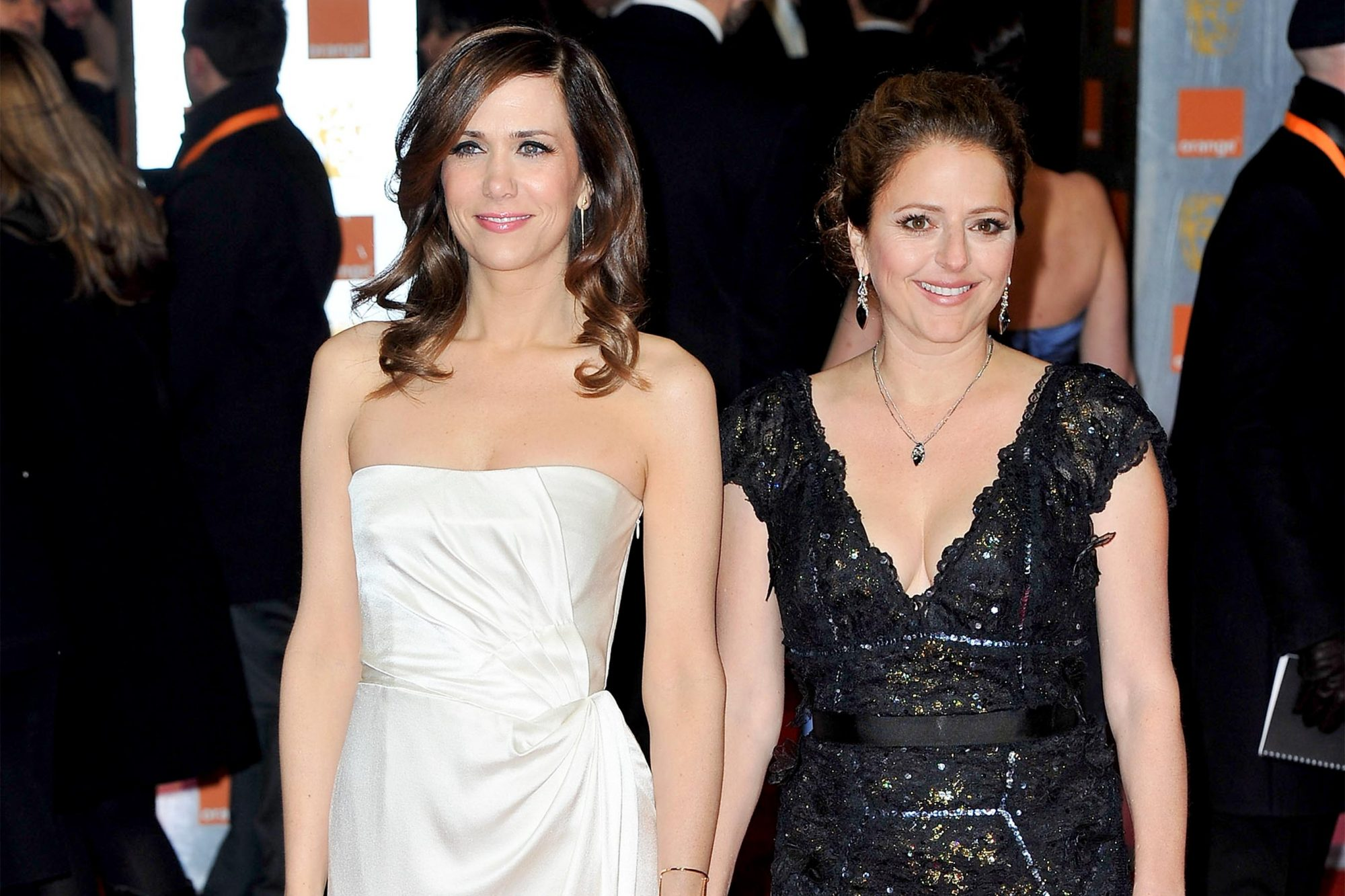 LONDON, ENGLAND - FEBRUARY 12: (L-R) Actors Kristen Wiig and Annie Mumolo attend the Orange British Academy Film Awards 2012 at the Royal Opera House on February 12, 2012 in London, England. (Photo by Gareth Cattermole/Getty Images)