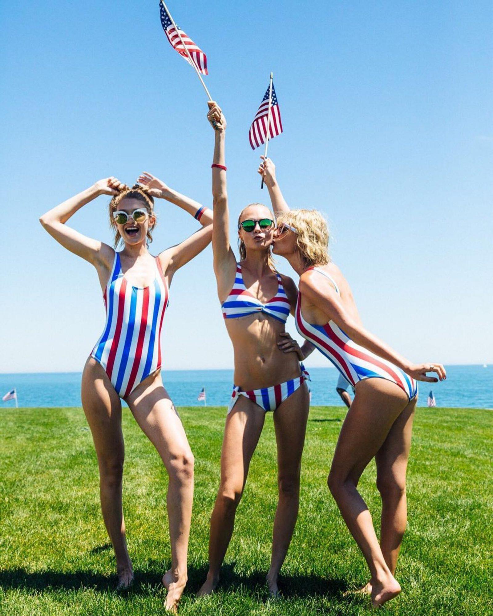 https://www.instagram.com/p/BHgMSX_BP3A/ Gigi Hadid, Cara Delevingne and Taylor Swift CR: Cara Delevingne/Instagram