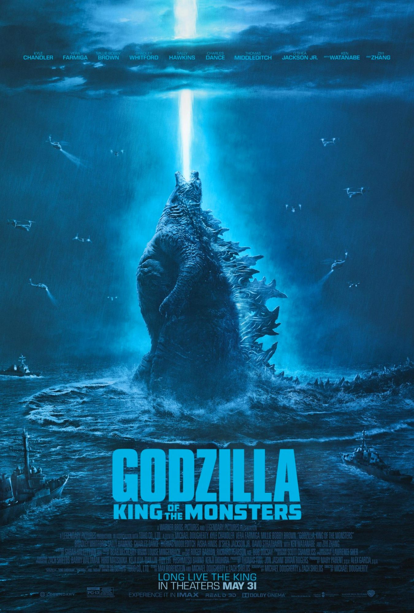 Godzilla: King of the Monsters movie poster CR: Warner Bros. Pictures https://twitter.com/GodzillaMovie/status/1118907146811265025