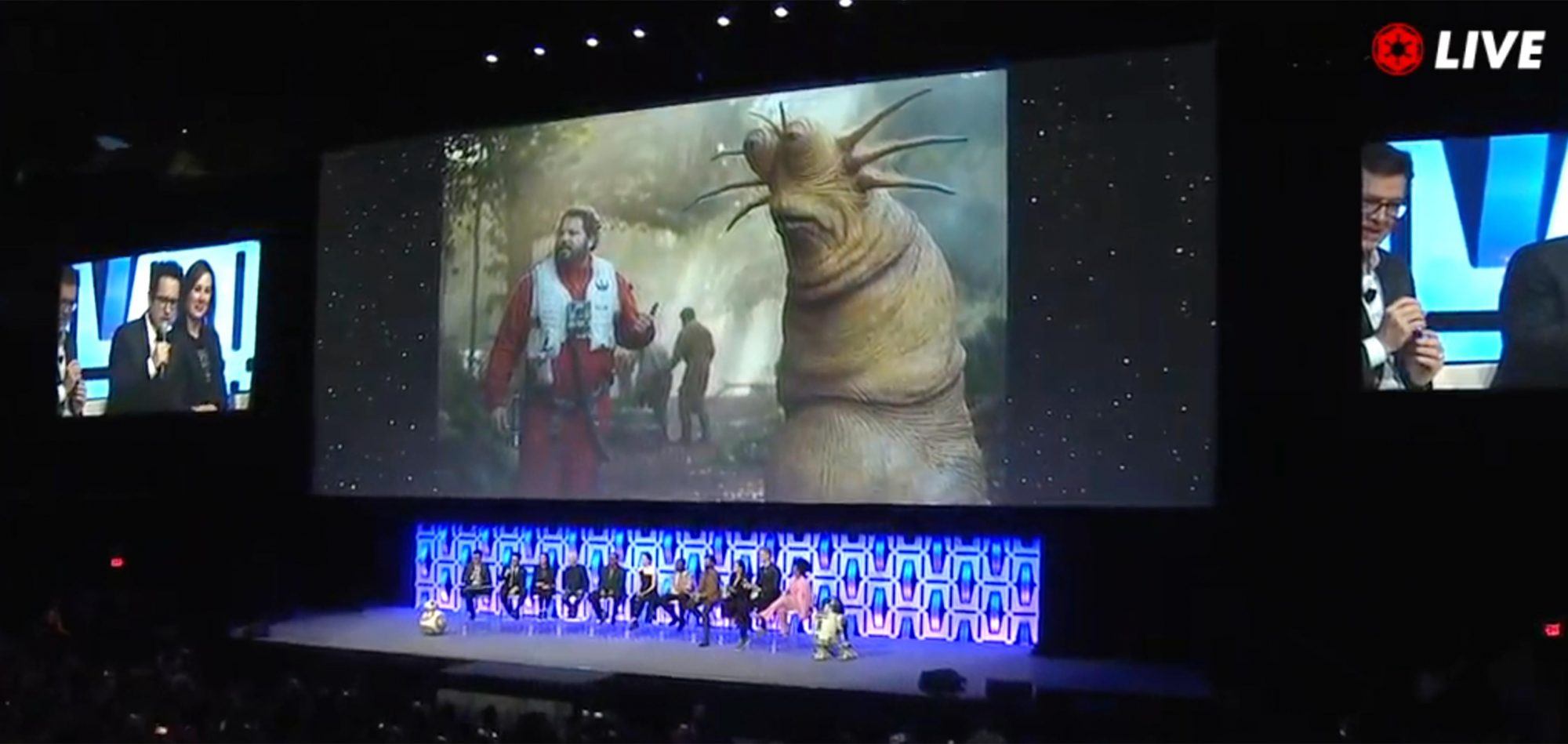 Star Wars Celebration Episode IX Panel screen grab