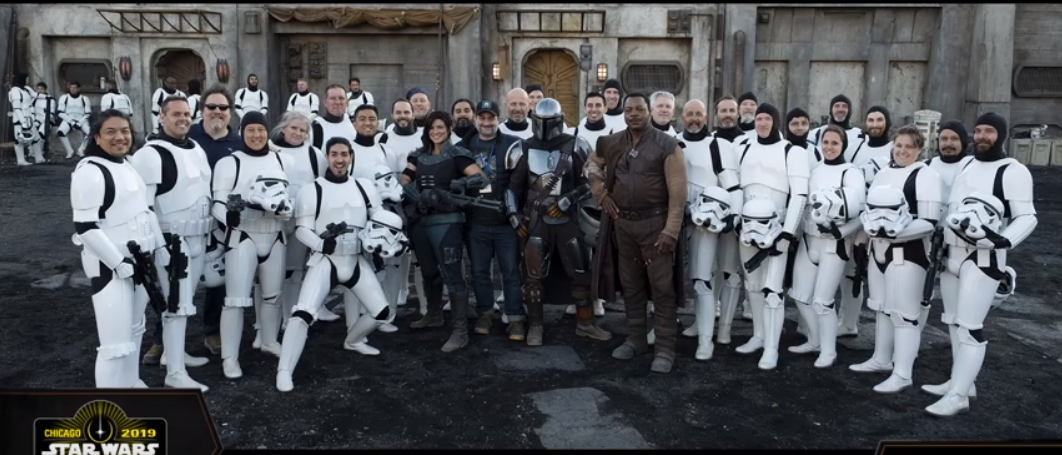 The 501st on set for 'The Mandalorian'