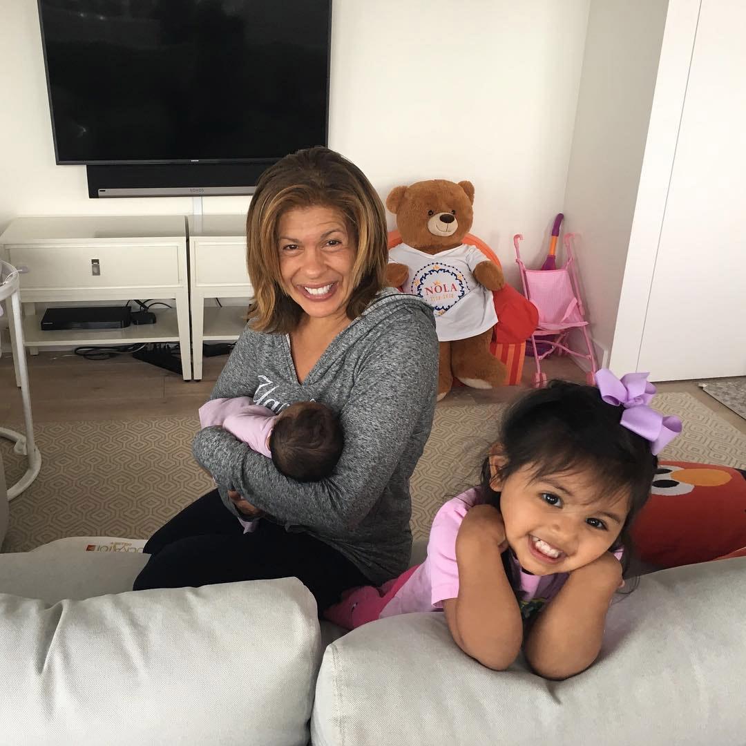 Hoda Kotb with baby Hope