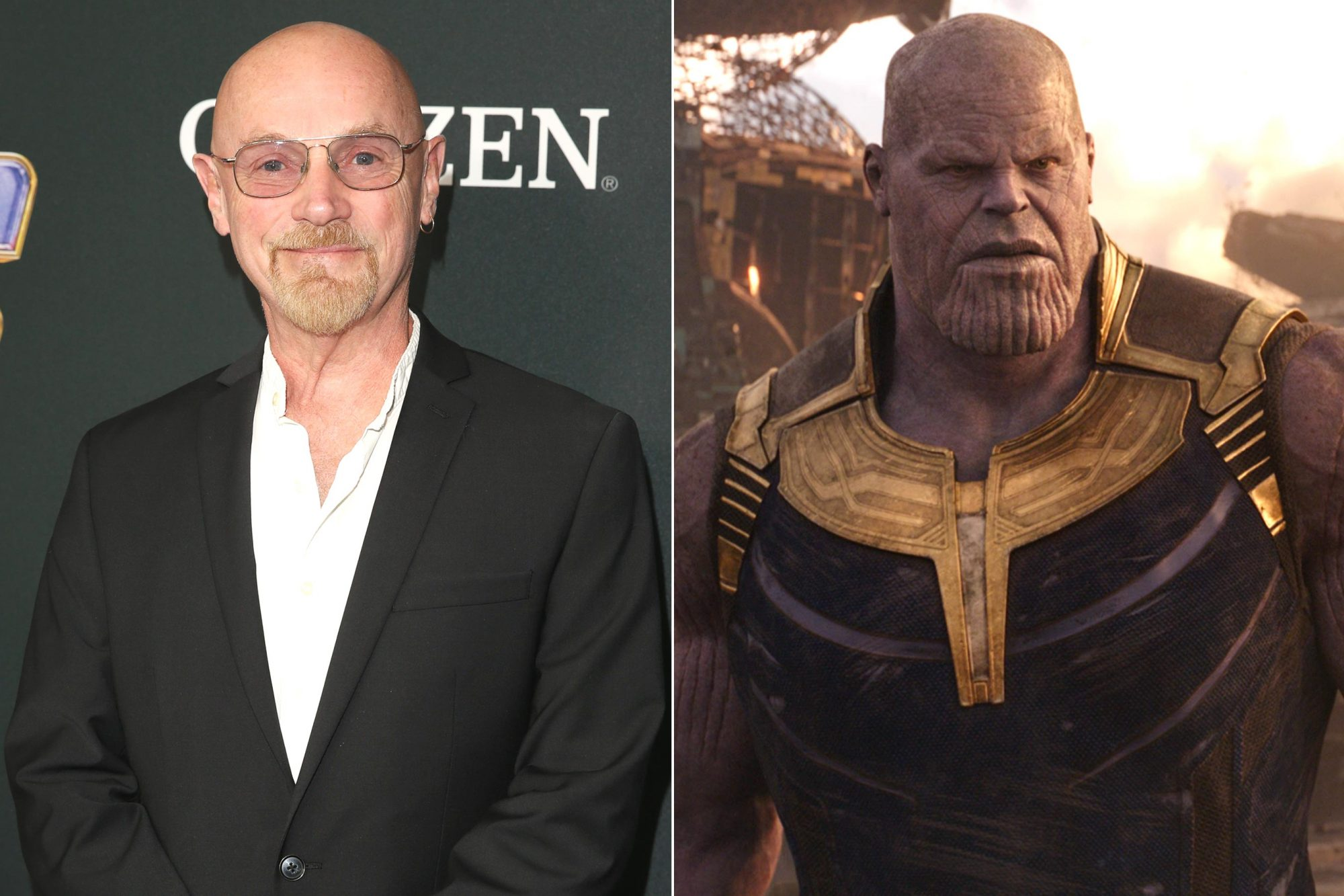 "LOS ANGELES, CA - APRIL 22: Jim Starlin attends the Los Angeles World Premiere of Marvel Studios' ""Avengers: Endgame"" at the Los Angeles Convention Center on April 23, 2019 in Los Angeles, California. (Photo by Jesse Grant/Getty Images for Disney) Marvel Studios' AVENGERS: INFINITY WAR..Thanos (Josh Brolin)..Photo: Film Frame..©Marvel Studios 2018"