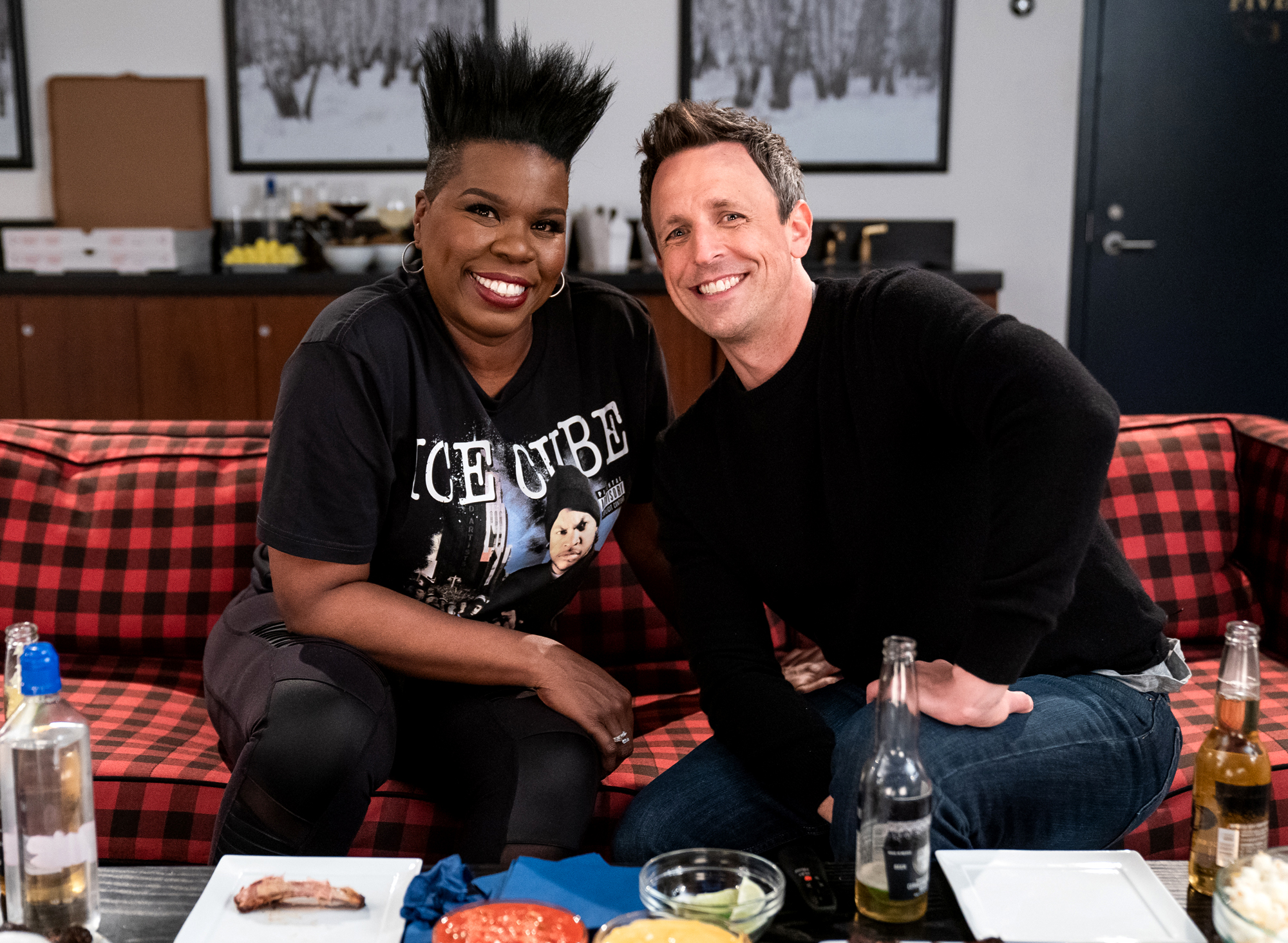 Leslie Jones; Seth Meyers