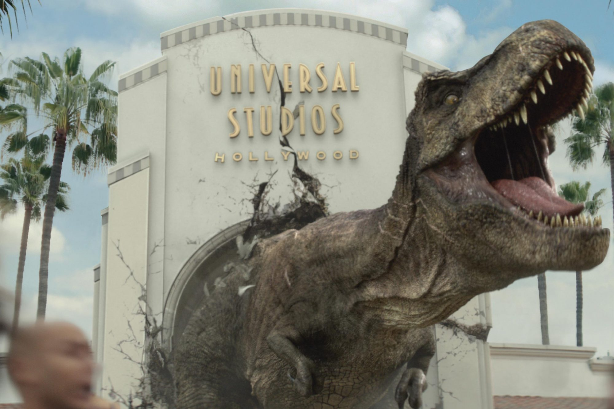 "JURASSIC WORLD's Iconic Tyrannosaurus rex and Mosasaurus Invade Universal Studios Hollywood in Dynamic New Ad Campaign, It Just Got Real, as Anticipation Builds for the New Mega Attraction, ""Jurassic World—The Ride,"" Opening This Summer"