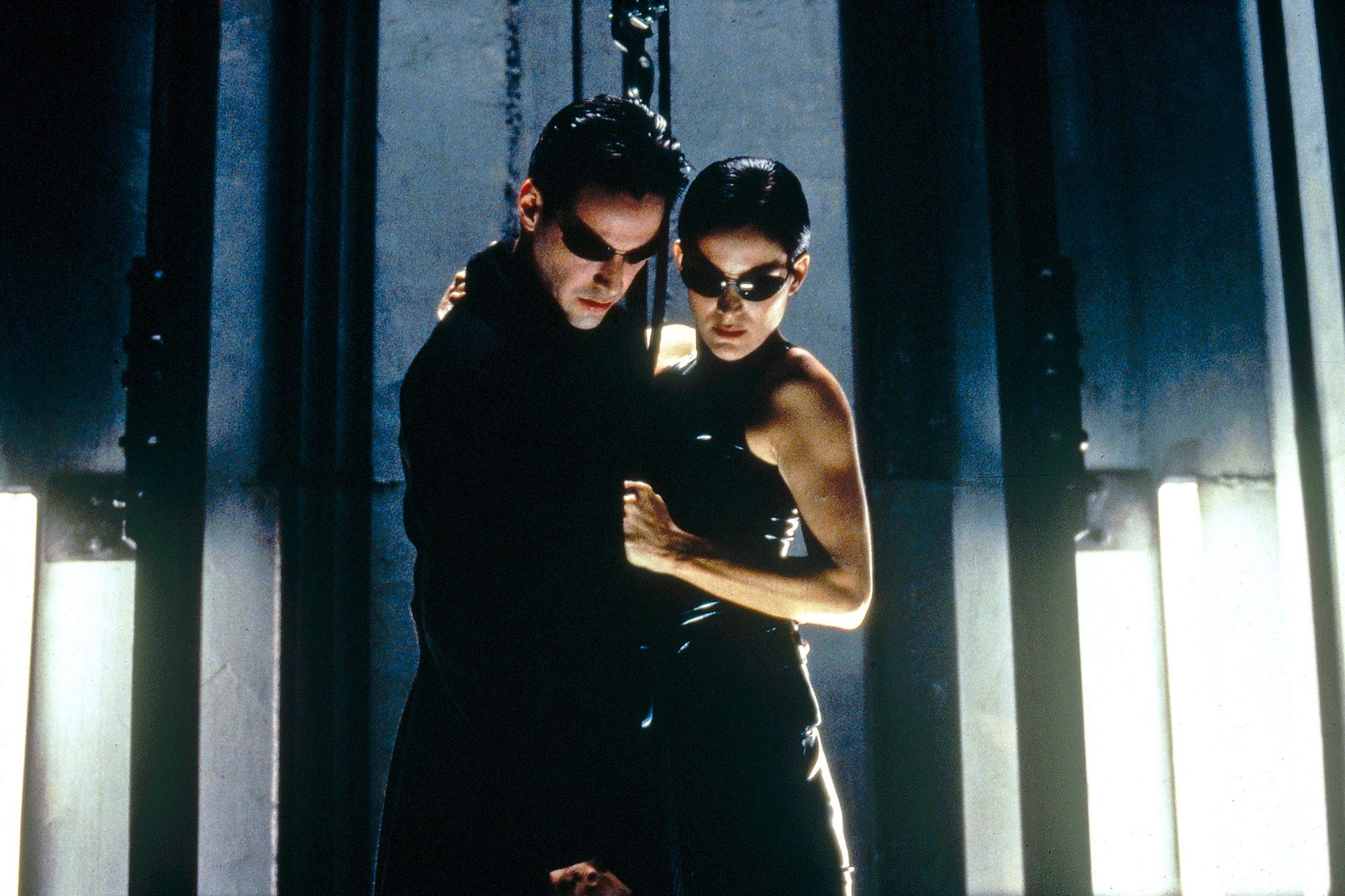 The Matrix, 1999Keanu Reeves and Carrie-Anne Moss