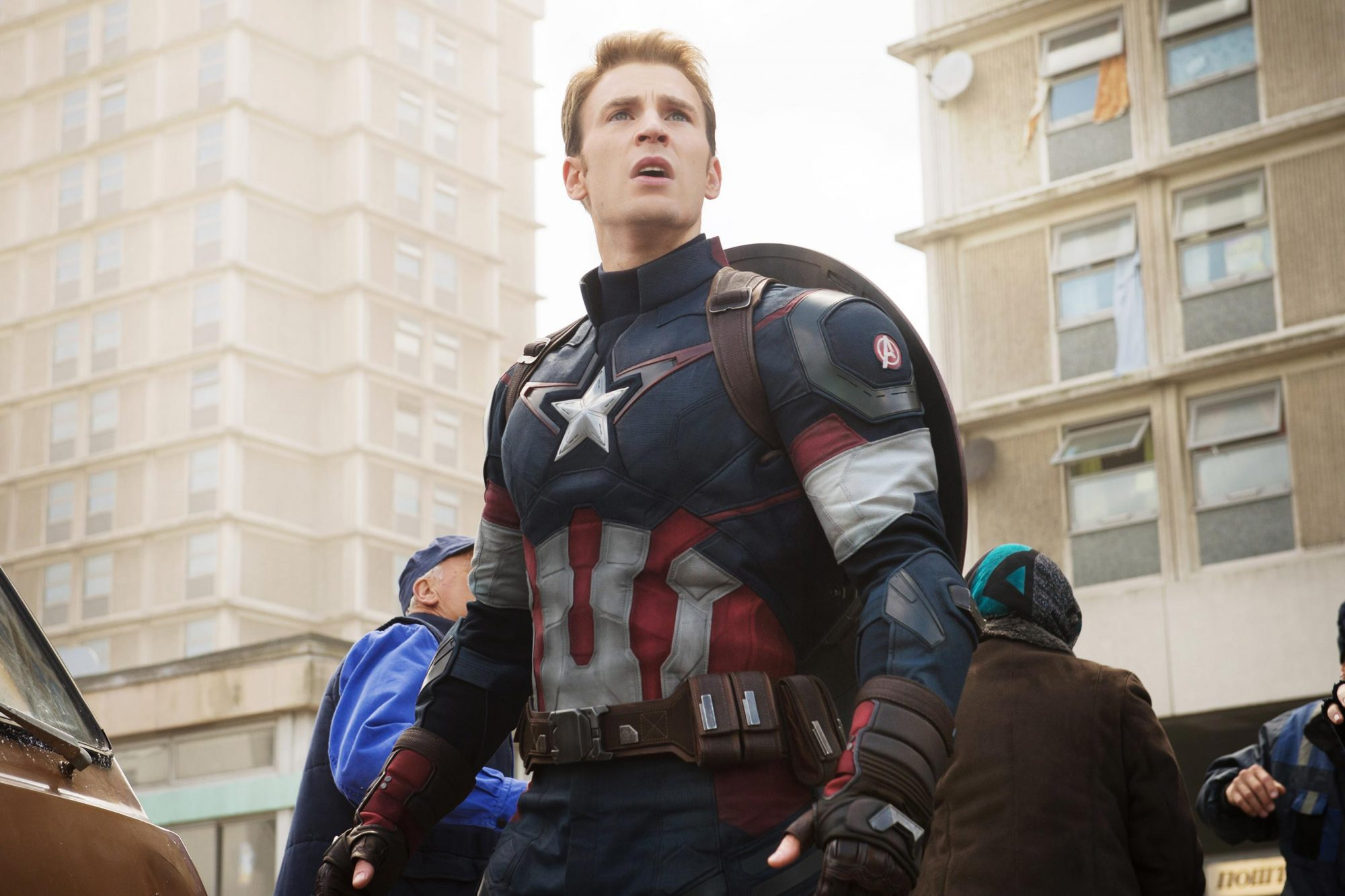AVENGERS: AGE OF ULTRON, Chris Evans as Captain America, 2015. ph: Jay Maidment / © Walt Disney