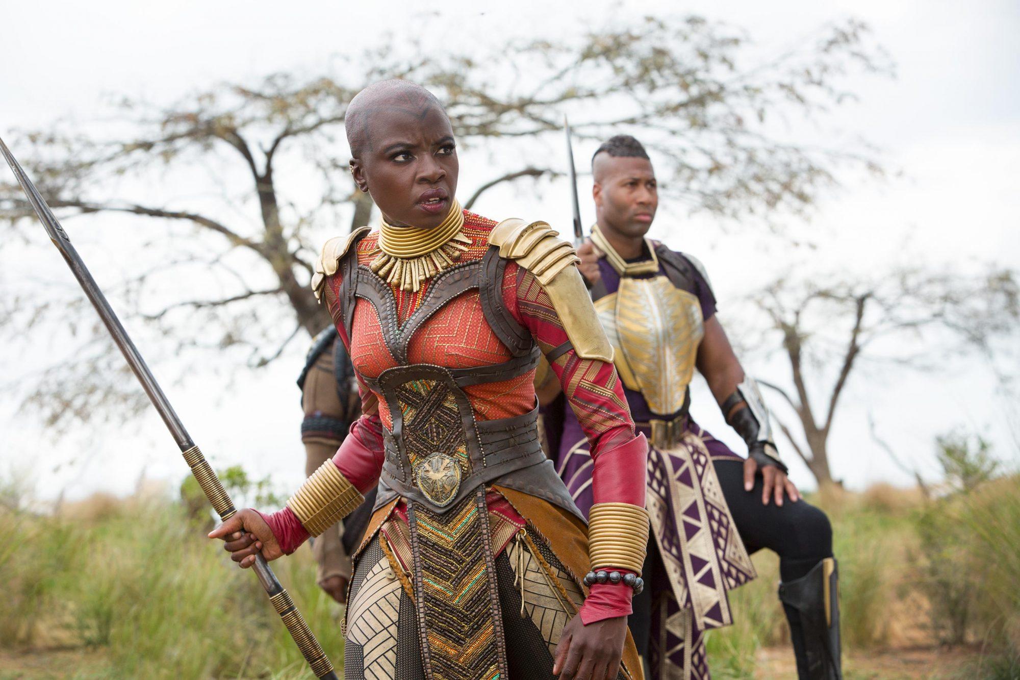 Marvel Studios' AVENGERS: INFINITY WARL to R: Okoye (Danai Gurira)