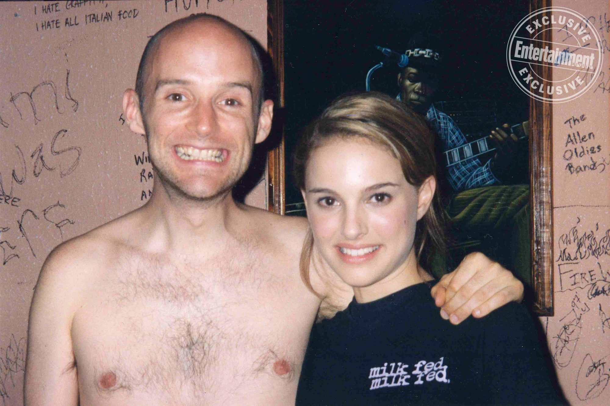 Moby and Natalie Portman. THEN IT FELL APART credit: Moby