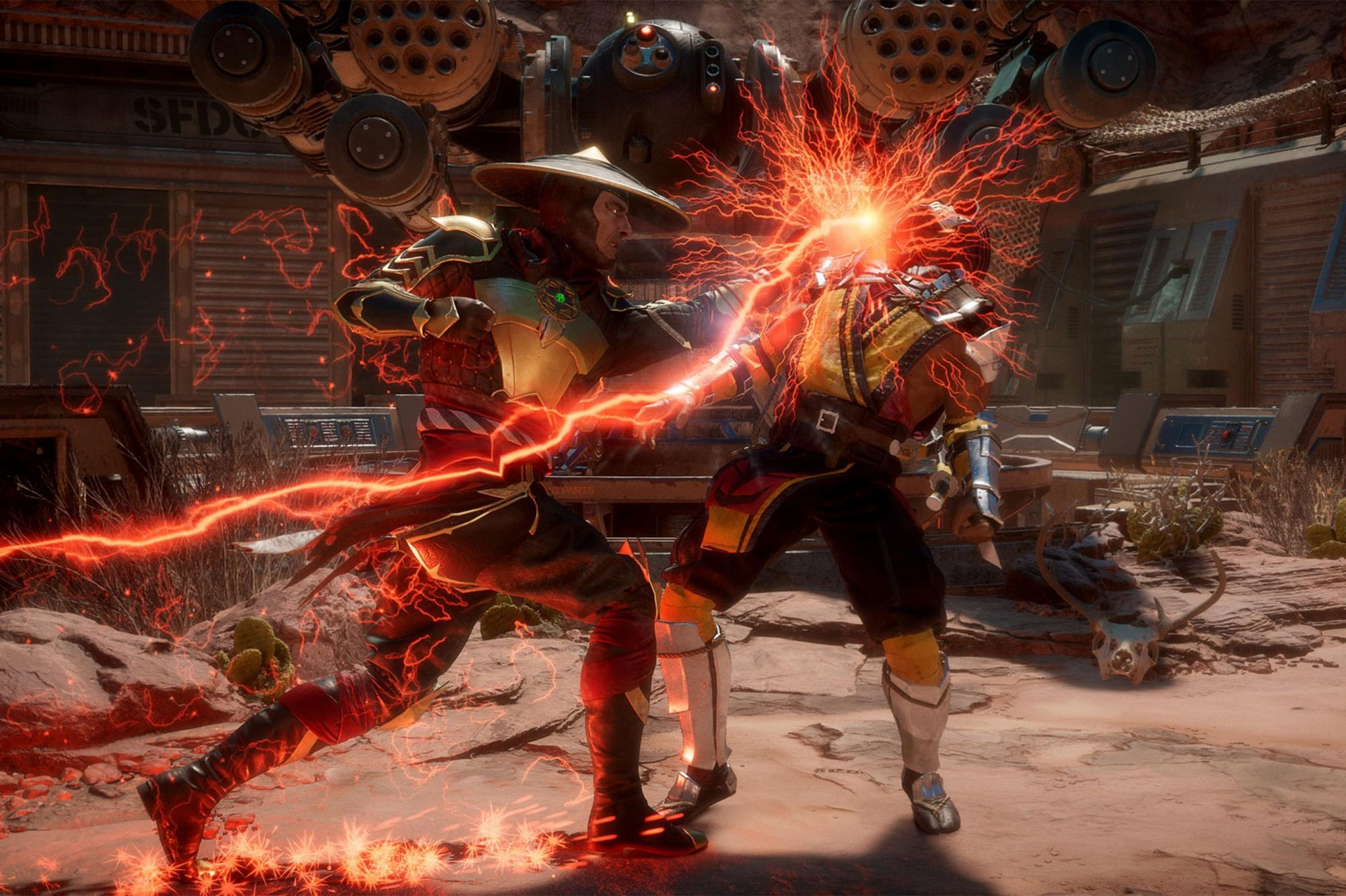 Mortal Kombat 11 video game Raiden and Scorpion CR: NetherRealm Studios/Warner Bros. Interactive Entertainment