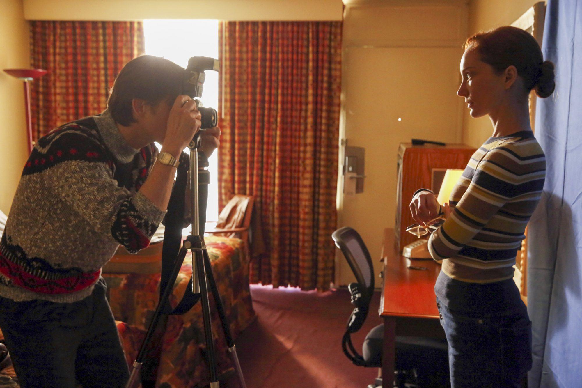 "THE BLACKLIST -- ""Rassvet"" Episode 619 -- Pictured: (l-r) Gabriel Mann as Ilya Koslov, Lotte Verbeek as Katarina Rostova -- (Photo by: Will Hart/NBC)"