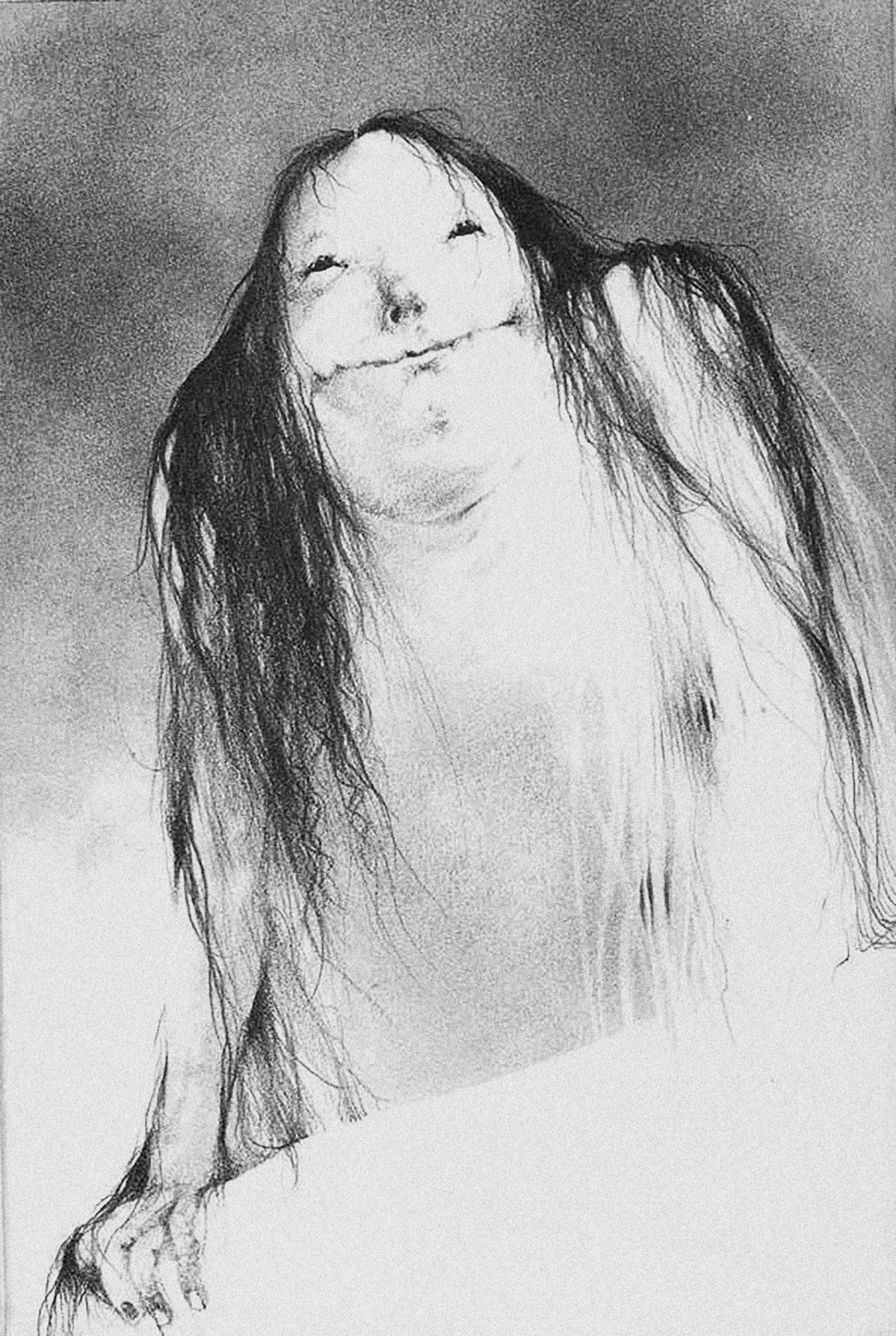 SCARY STORIES TO TELL IN THE DARK Pale Lady original illustration CR: CBS Films