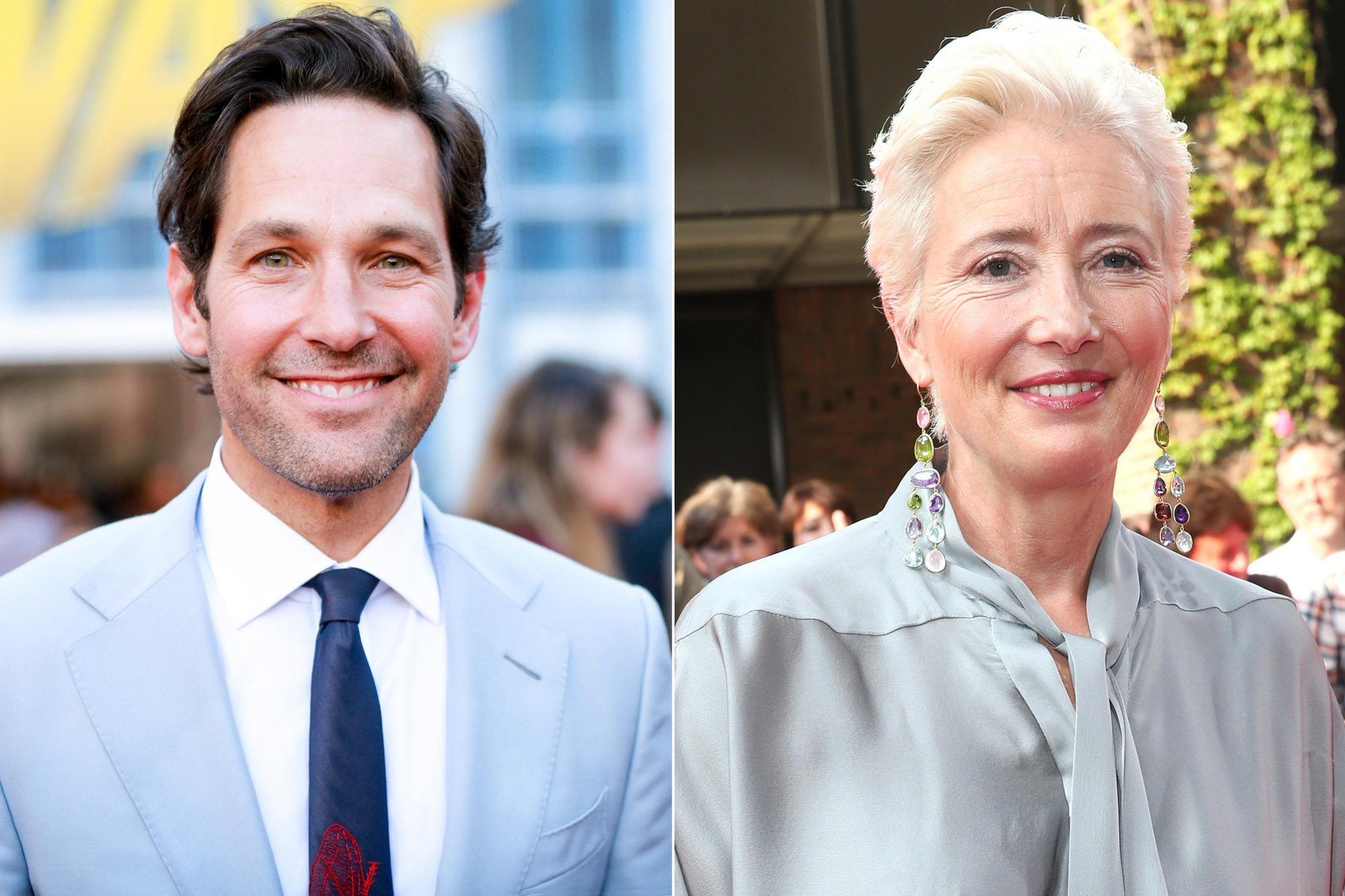 Paul Rudd attends the premiere of Disney And Marvel's 'Ant-Man And The Wasp' on June 25, 2018 in Hollywood, California. (Photo by Rich Fury/Getty Images) MUNICH, GERMANY - JUNE 29: Emma Thompson arrives at the Cine Merit Award Gala during the Munich Film Festival 2018 at Gasteig on June 29, 2018 in Munich, Germany. (Photo by Gisela Schober/Getty Images)
