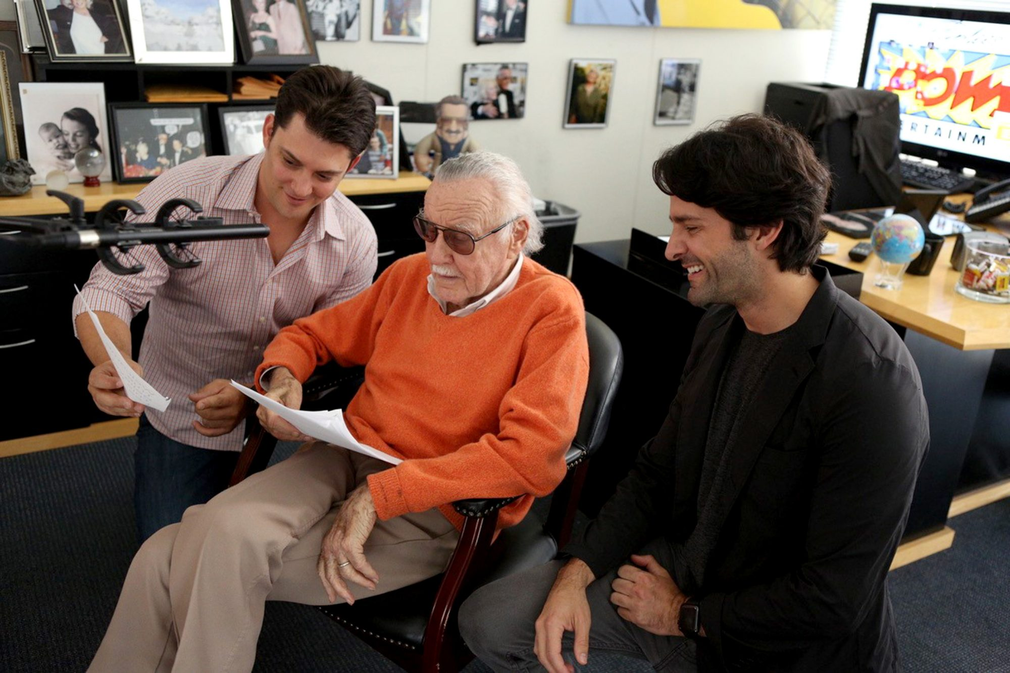 Luke Lieberman, Stan Lee, and Ryan Silbert