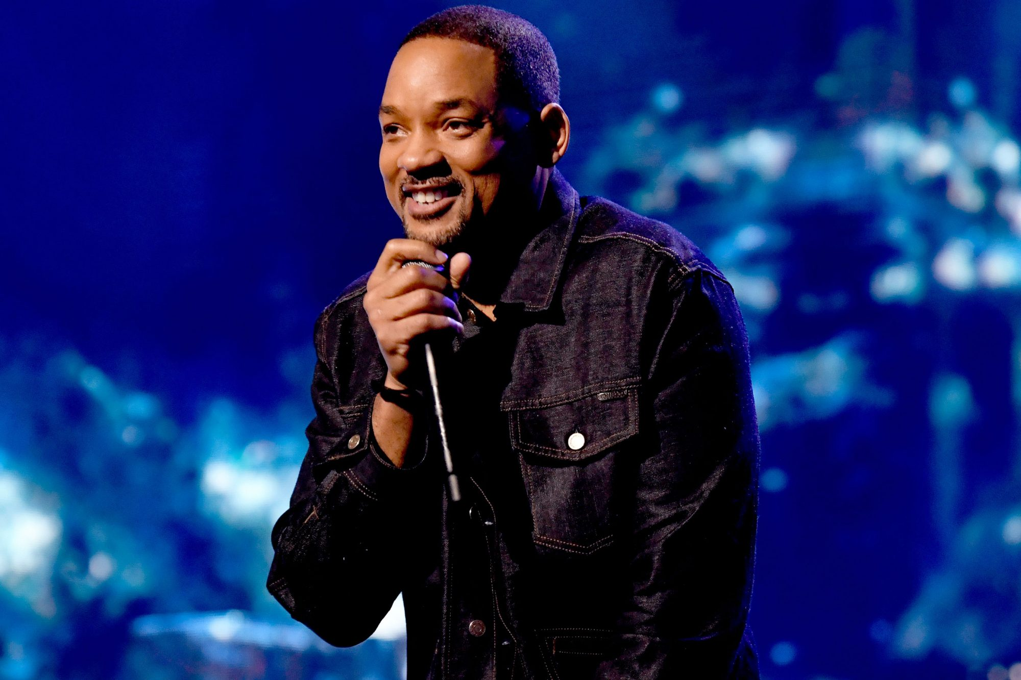 Will Smith speaks onstage at Nickelodeon's 2019 Kids' Choice Awards