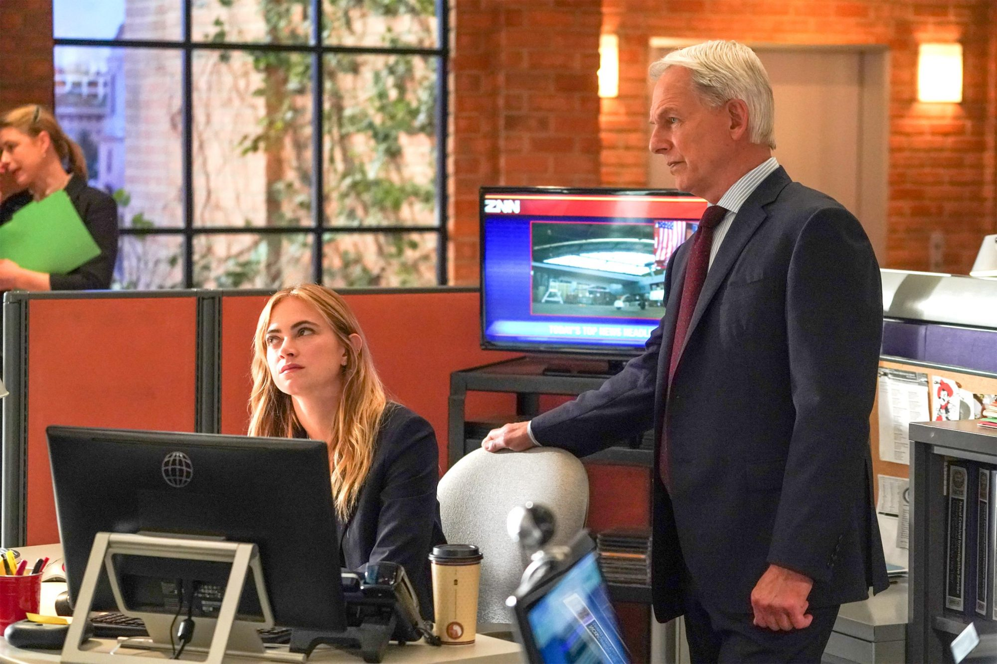 """Judge, Jury--¦"" -- After entering cold case DNA into the system, Kasie solves a 30-year-old murder case, but a loophole in the legal system may set the suspect free. Also, McGee visits an elite technology company in Silicon Valley that is offering him a highly paid position, on NCIS, Tuesday, April 30 (8:00-9:00 PM, ET/PT) on the CBS Television Network. Pictured: Emily Wickersham as NCIS Special Agent Eleanor ""Ellie"" Bishop, Mark Harmon as NCIS Special Agent Leroy Jethro Gibbs. Photo: Ali Goldstein/CBS В©2019 CBS Broadcasting, Inc. All Rights Reserved"