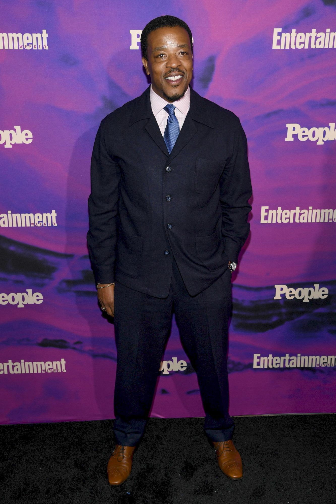 NEW YORK, NEW YORK - MAY 13: Russell Hornsby of Lincoln attends the Entertainment Weekly & PEOPLE New York Upfronts Party on May 13, 2019 in New York City. (Photo by Dimitrios Kambouris/Getty Images for Entertainment Weekly & PEOPLE)