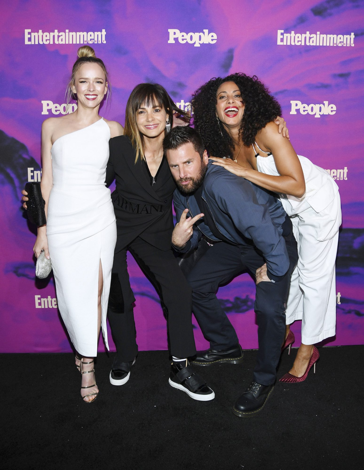 NEW YORK, NEW YORK - MAY 13: Allison Miller, Stephanie Szostak, James Roday and Christina Moses of A Million Little Things attends the Entertainment Weekly & PEOPLE New York Upfronts Party on May 13, 2019 in New York City. (Photo by Dimitrios Kambouris/Getty Images for Entertainment Weekly & PEOPLE)