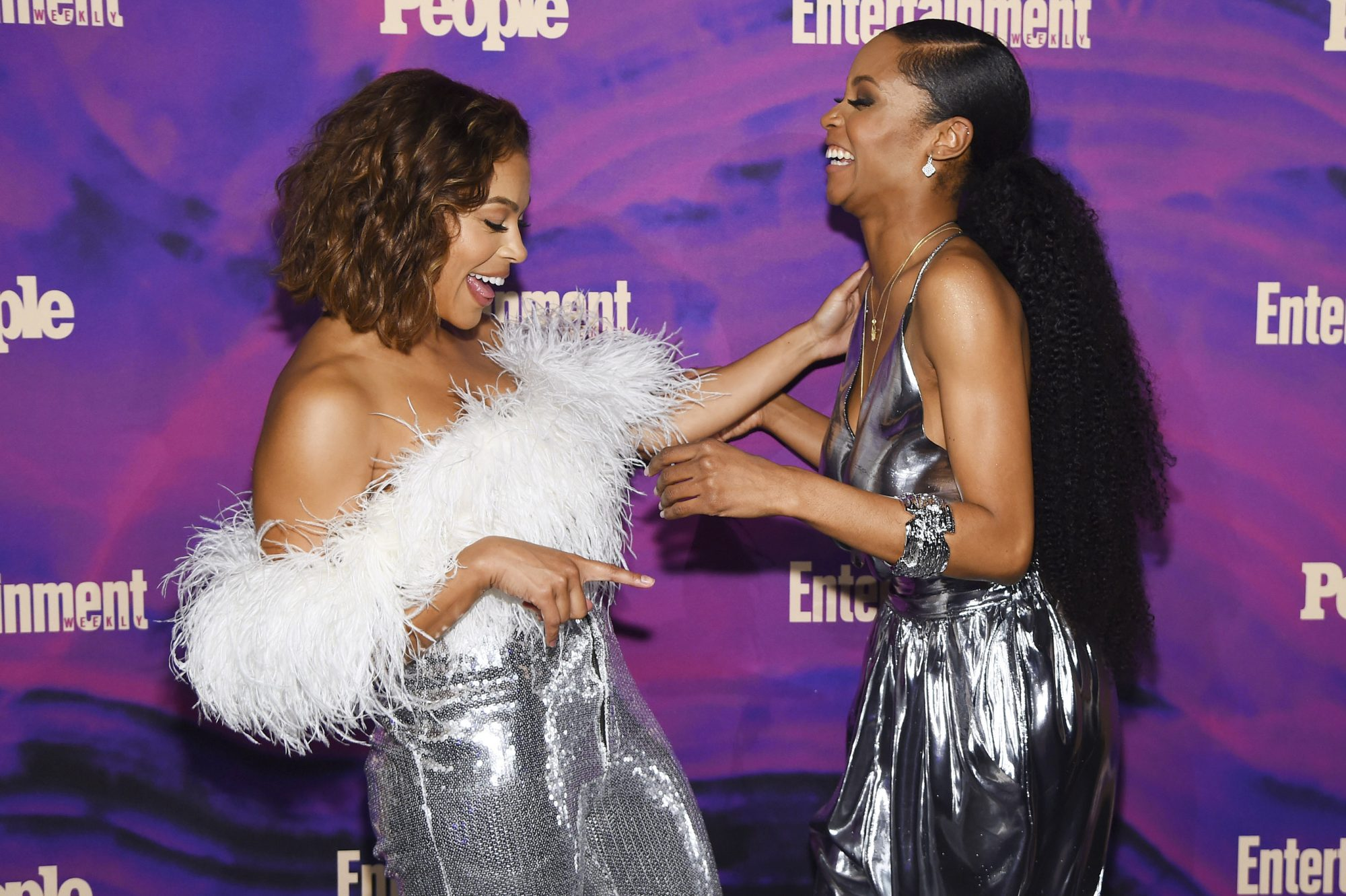 NEW YORK, NEW YORK - MAY 13: Toni Trucks and Yaya DaCosta attend the Entertainment Weekly & PEOPLE New York Upfronts Party on May 13, 2019 in New York City. (Photo by Larry Busacca/Getty Images for Entertainment Weekly & PEOPLE)