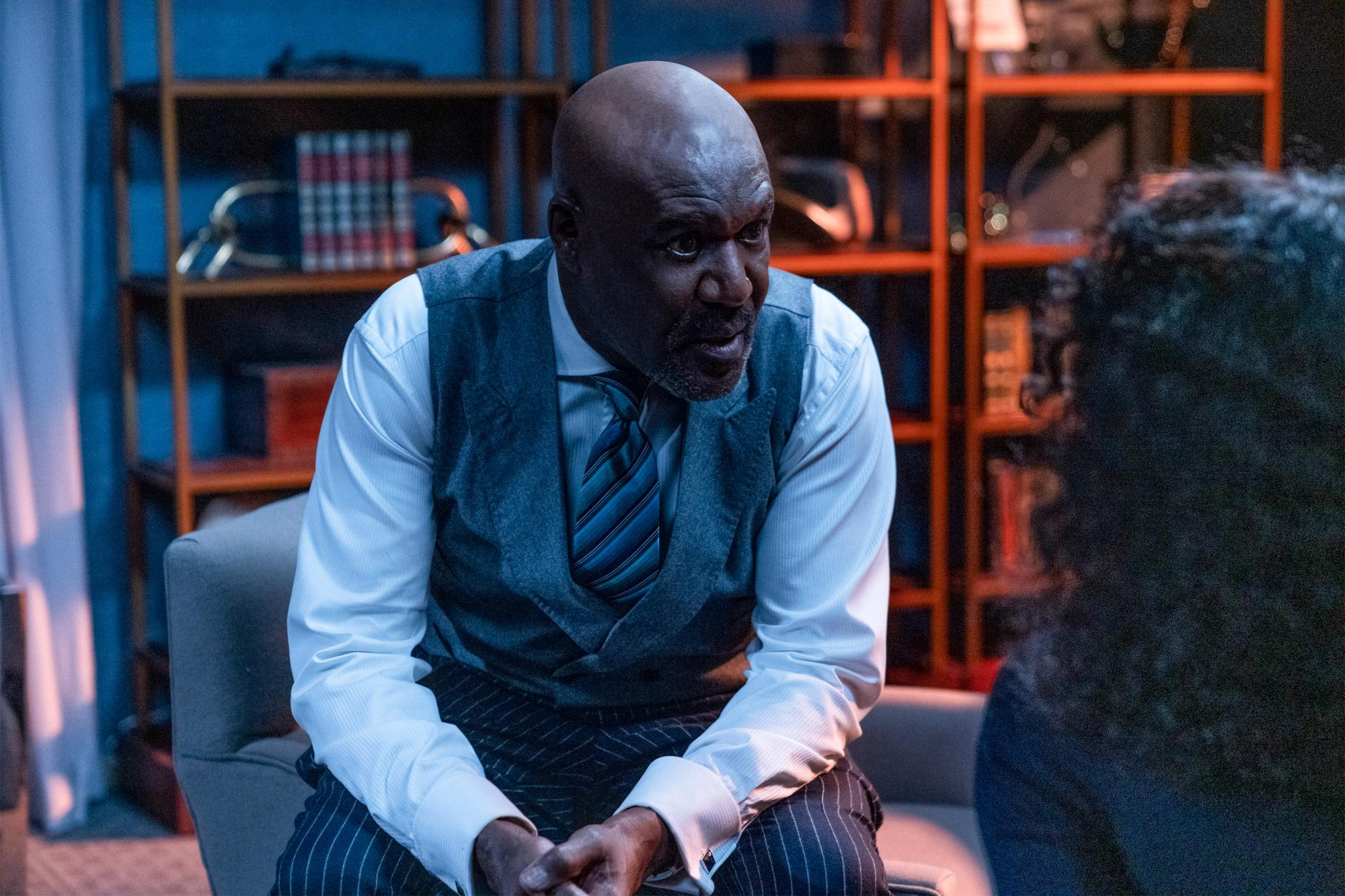 ÒThe One About the End of the WorldÓ -- Episode 310 -- Pictured: Delroy Lindo as Adrian Boseman of the CBS All Access series THE GOOD FIGHT. Photo Cr: Patrick Harbron/CBS ©2019 CBS Interactive, Inc. All Rights Reserved.