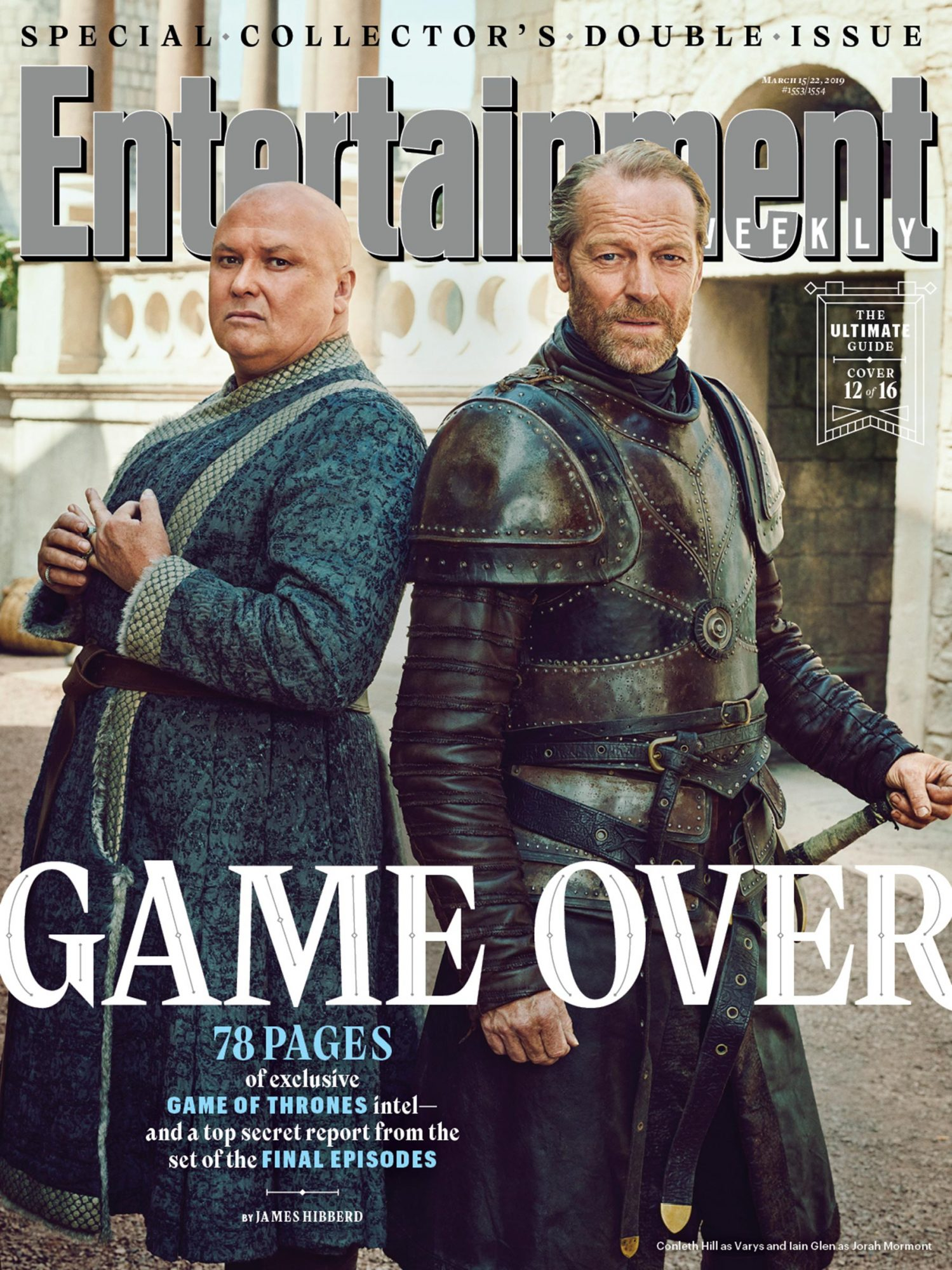Conleth Hill and Iain Glen as  Varys and Jorah Mormont