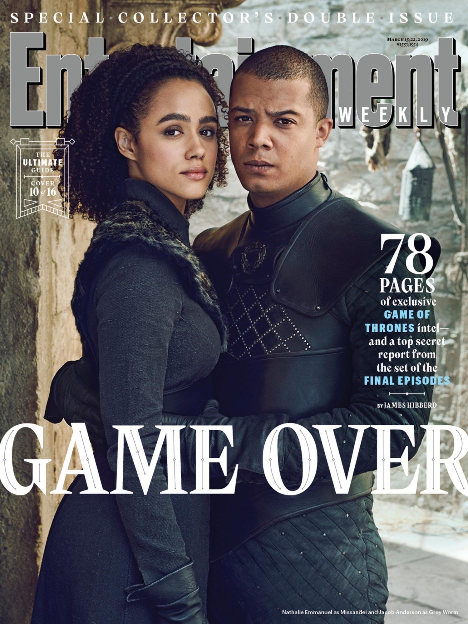 Nathalie Emmanuel and Jacob Anderson as Missandei and Grey Worm