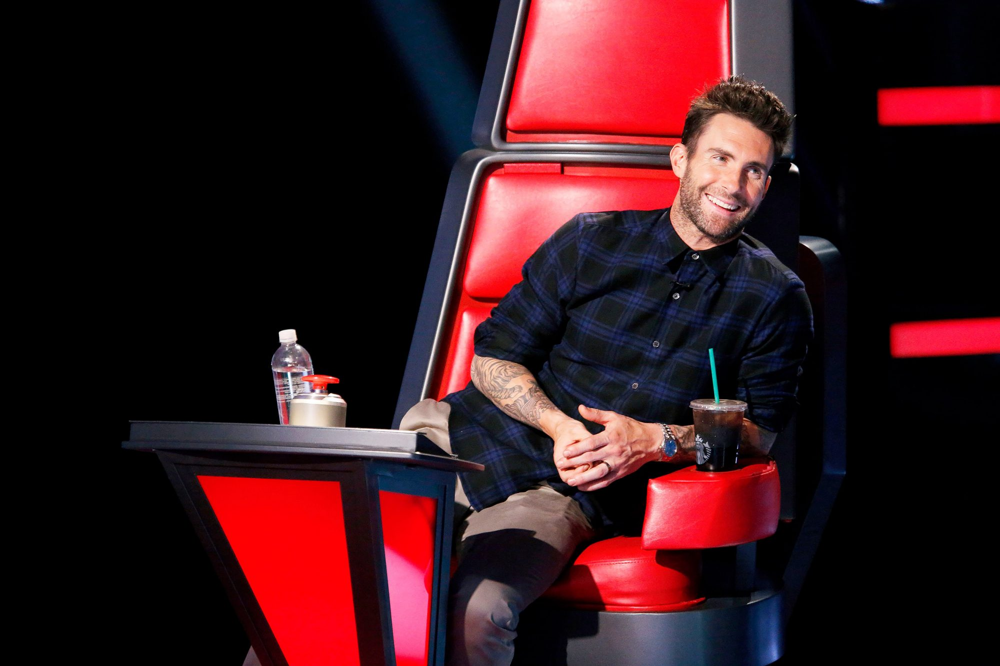 """THE VOICE -- """"Blind Auditions"""" Episode 804 -- Pictured: Adam Levine -- (Photo by: Trae Patton/NBC/NBCU Photo Bank via Getty Images)"""