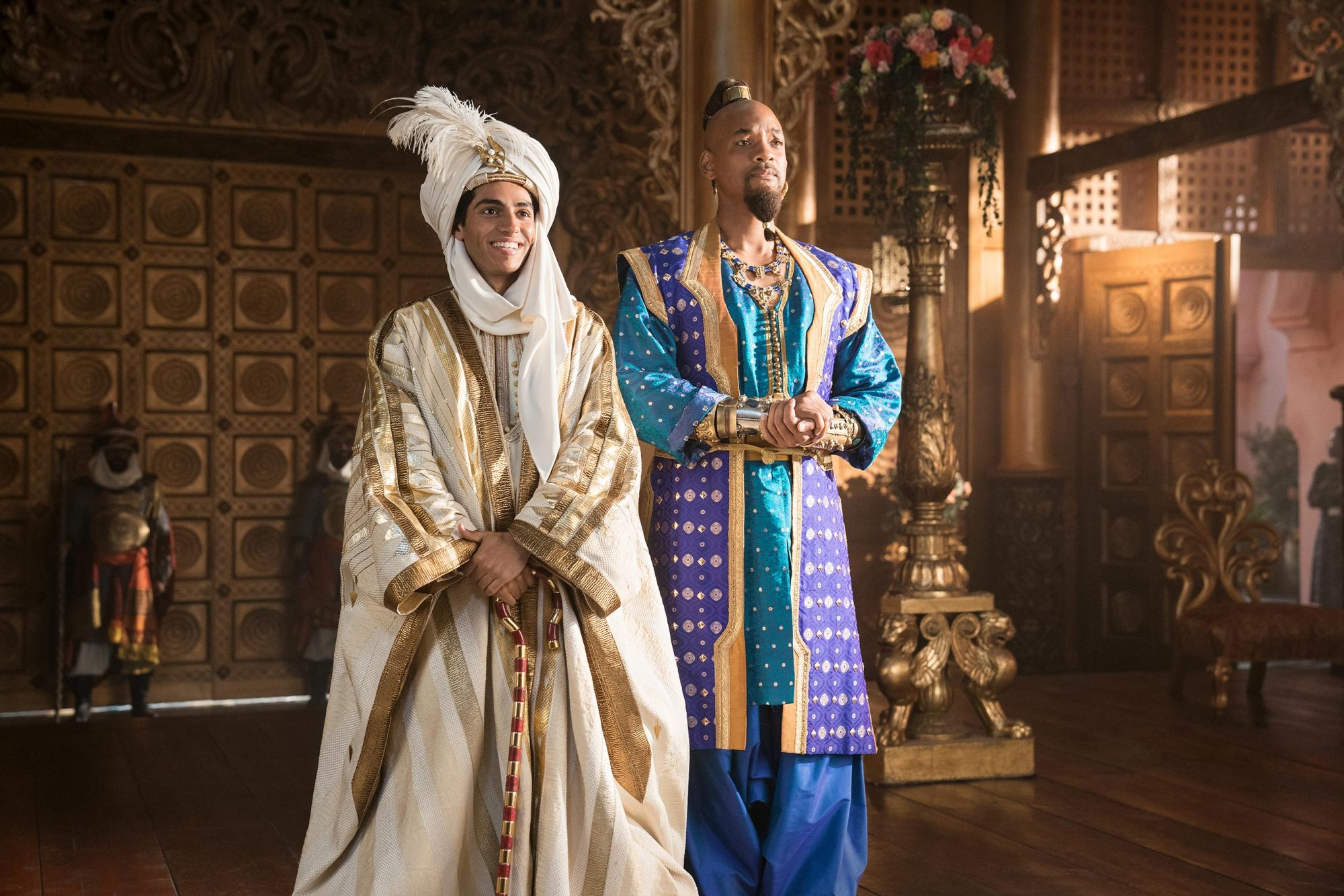 Mena Massoud is Aladdin and Will Smith is the Genie in Disney's live-action ALADDIN, directed by Guy Ritchie.