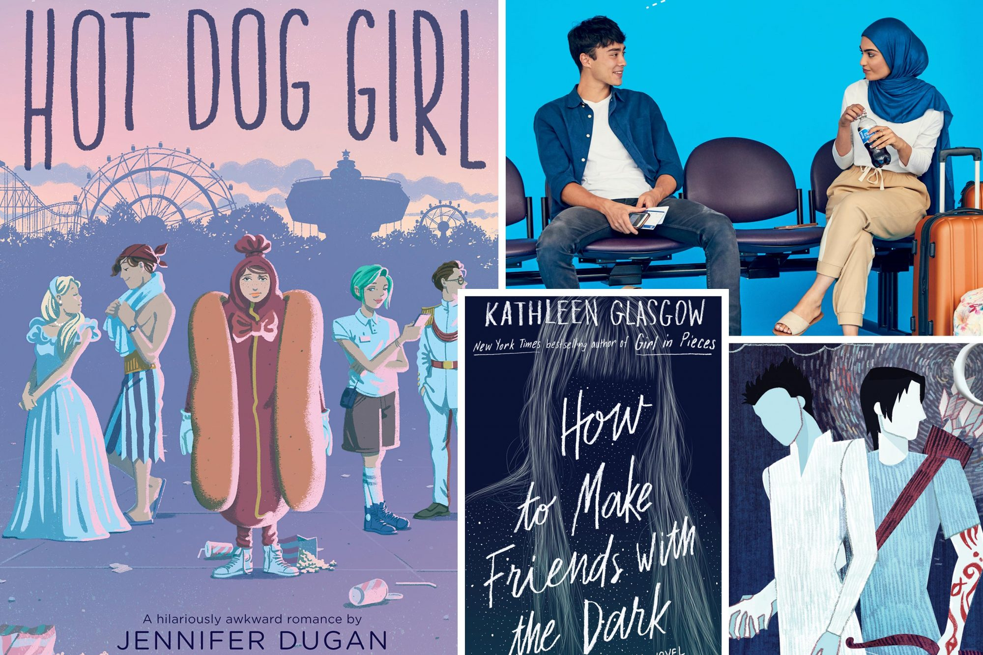 April YA Column Hot Dog Girl by Jennifer Dugan Love From A to Z by S.K. Ali How to Make Friends With the Dark by Kathleen Glasgow The Red Scrolls of Magic by Cassandra Clare and Wesley Chu