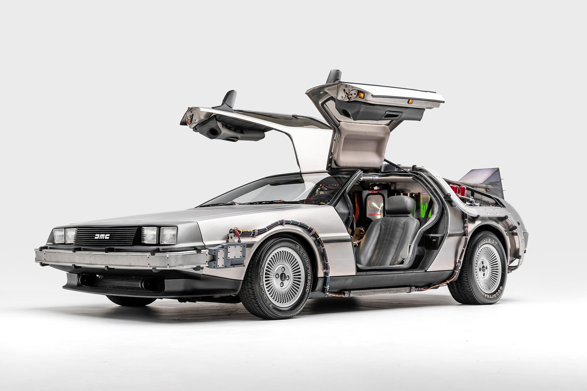 1981 De Lorean Time Machine — Back to the Future (1985), Back to the Future II (1989), and Back to the Future III (1990)