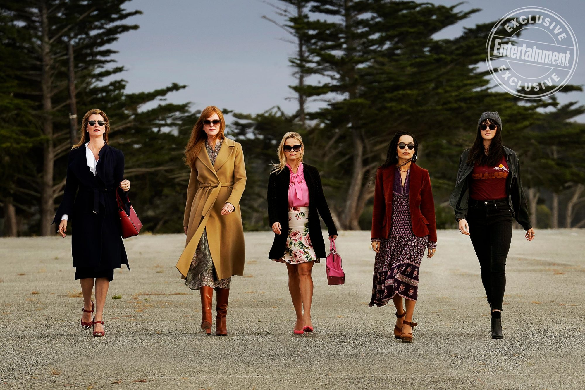 Big Little Lies Gallery Pictured: Laura Dern, Nicole Kidman, Reese Witherspoon, Zoë Kravitz and Shailene Woodley