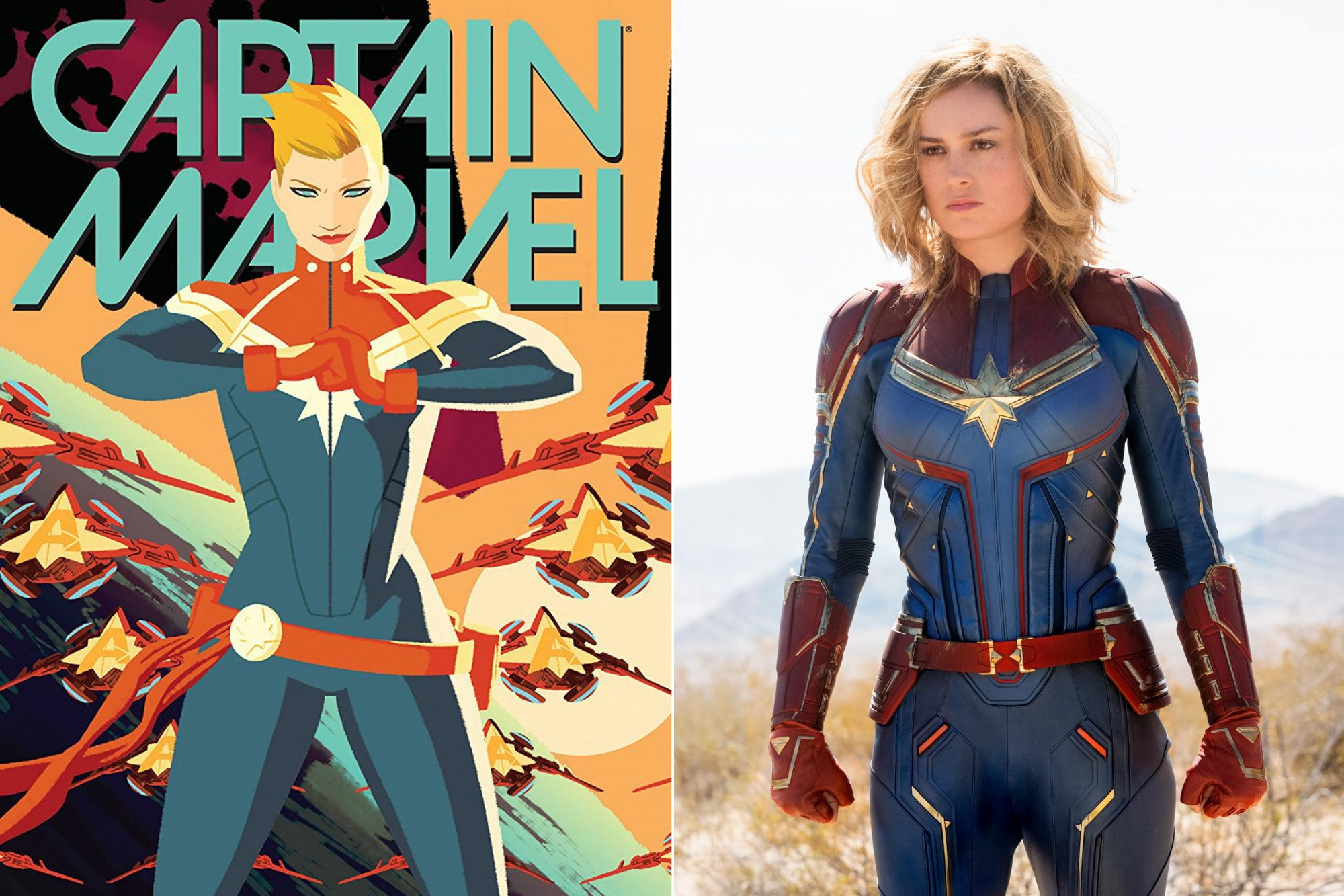 CAPTAIN MARVEL comic Marvel Studios' CAPTAIN MARVEL..Carol Danvers/Captain Marvel (Brie Larson)..Photo: Chuck Zlotnick..©Marvel Studios 2019